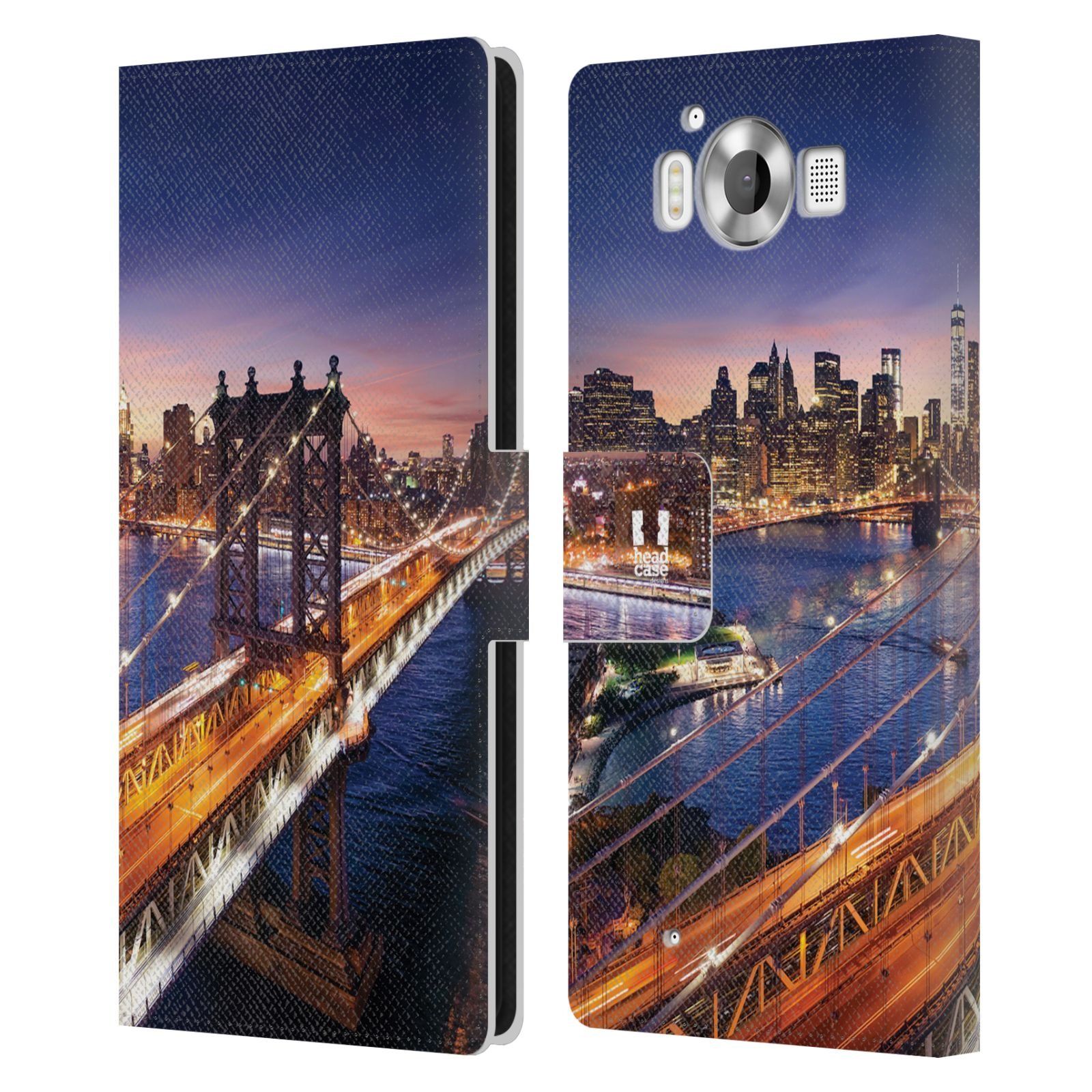 Pouzdro na mobil Nokia Lumia 950 - Head Case - New York Brooklynský most