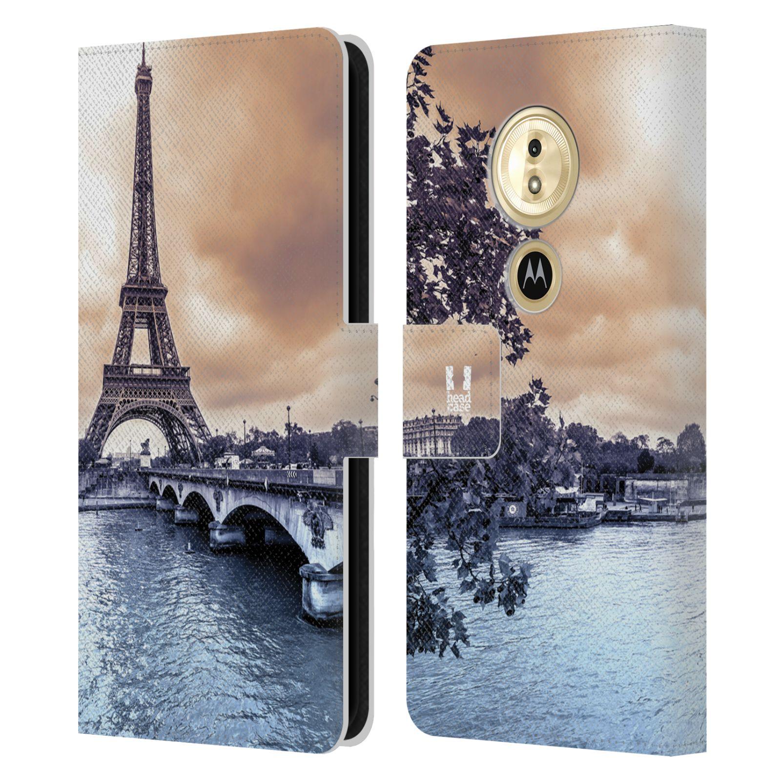 Pouzdro na mobil Motorola Moto E5 - Head Case - Paříž Eiffelova věž
