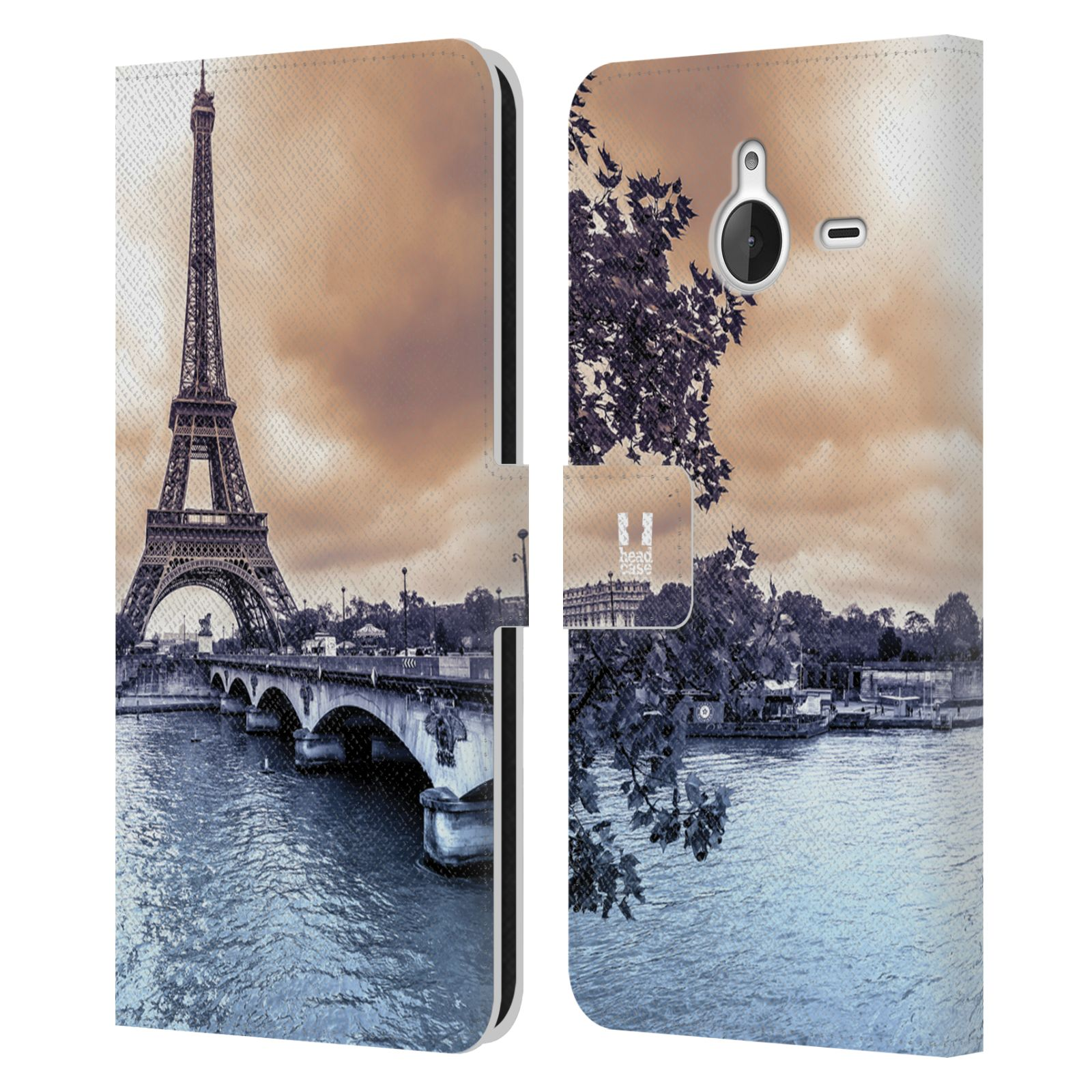 Pouzdro na mobil Nokia Lumia 640 XL - Head Case - Paříž Eiffelova věž