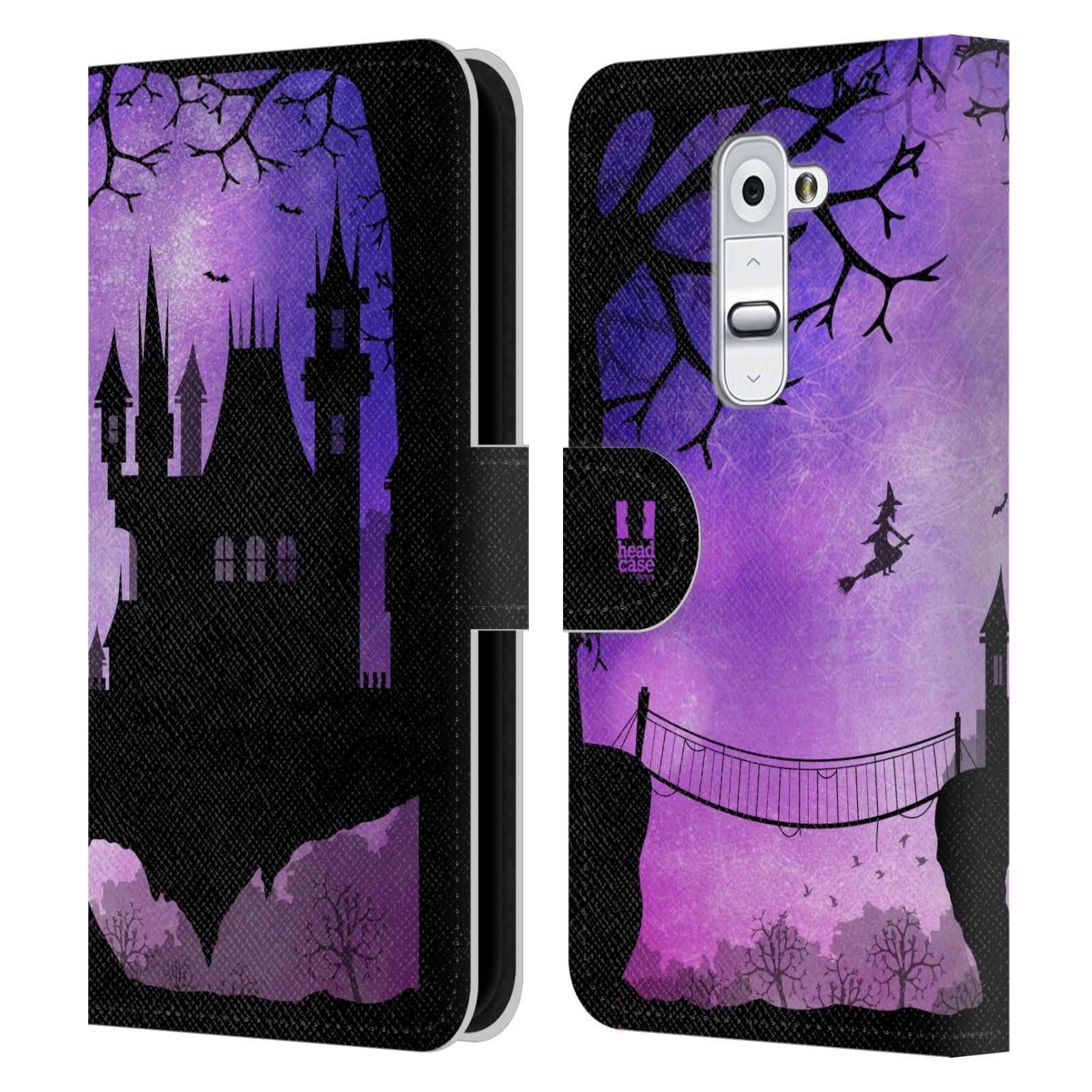 HEAD CASE DESIGNS DREAMSCAPES SILHOUETTES LEATHER BOOK WALLET CASE FOR LG G2