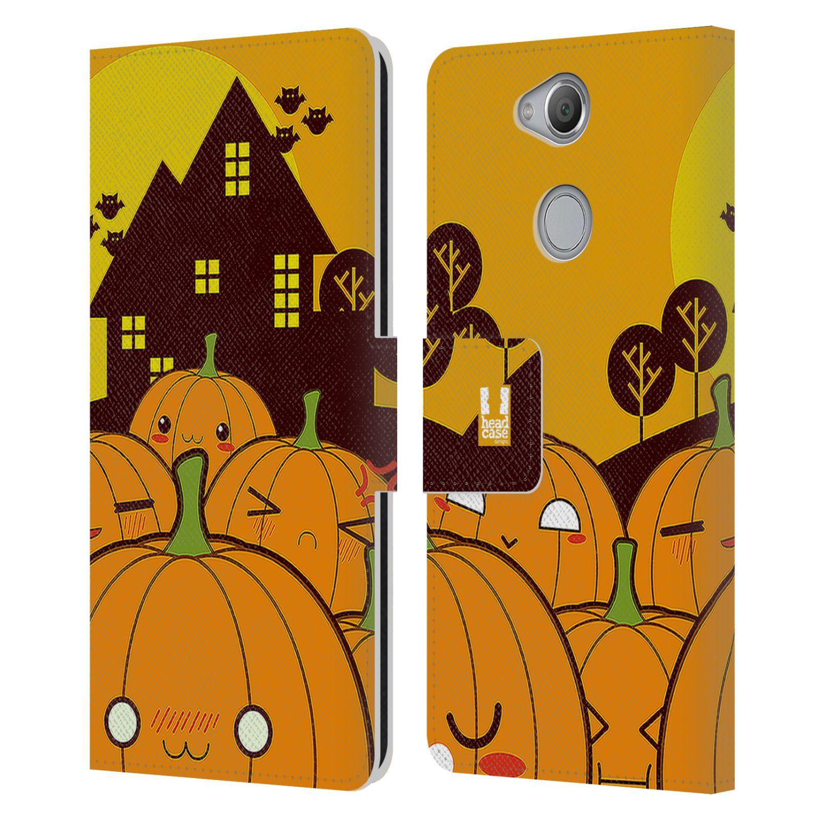 Pouzdro na mobil Sony Xperia XA2 - Head Case - Halloween oživlé dýně