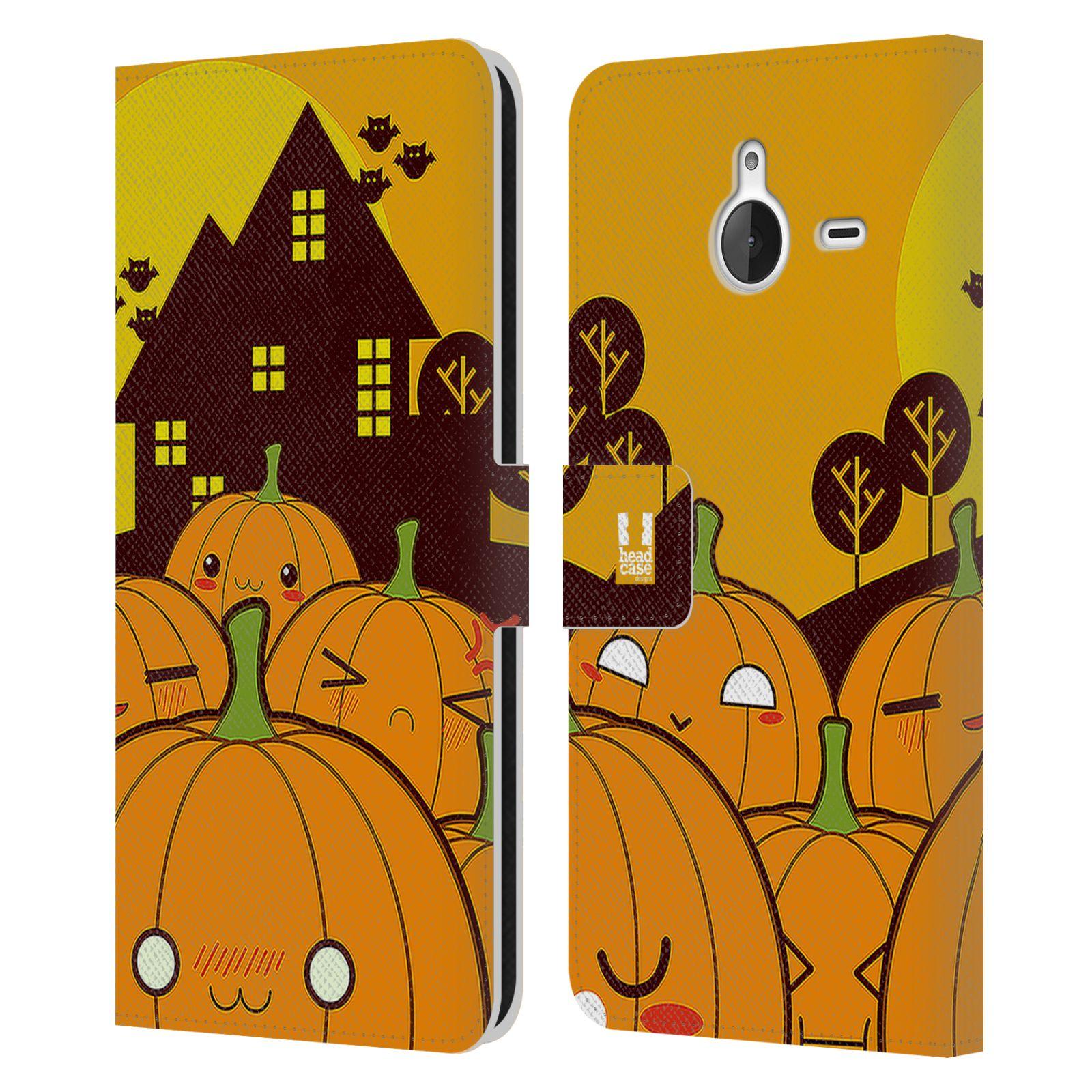 Pouzdro na mobil Nokia Lumia 640 XL - Head Case - Halloween oživlé dýně