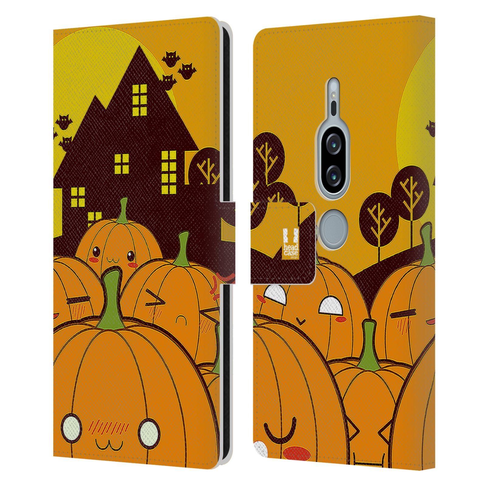 Pouzdro na mobil Sony Xperia XZ2 Premium - Head Case - Halloween oživlé dýně