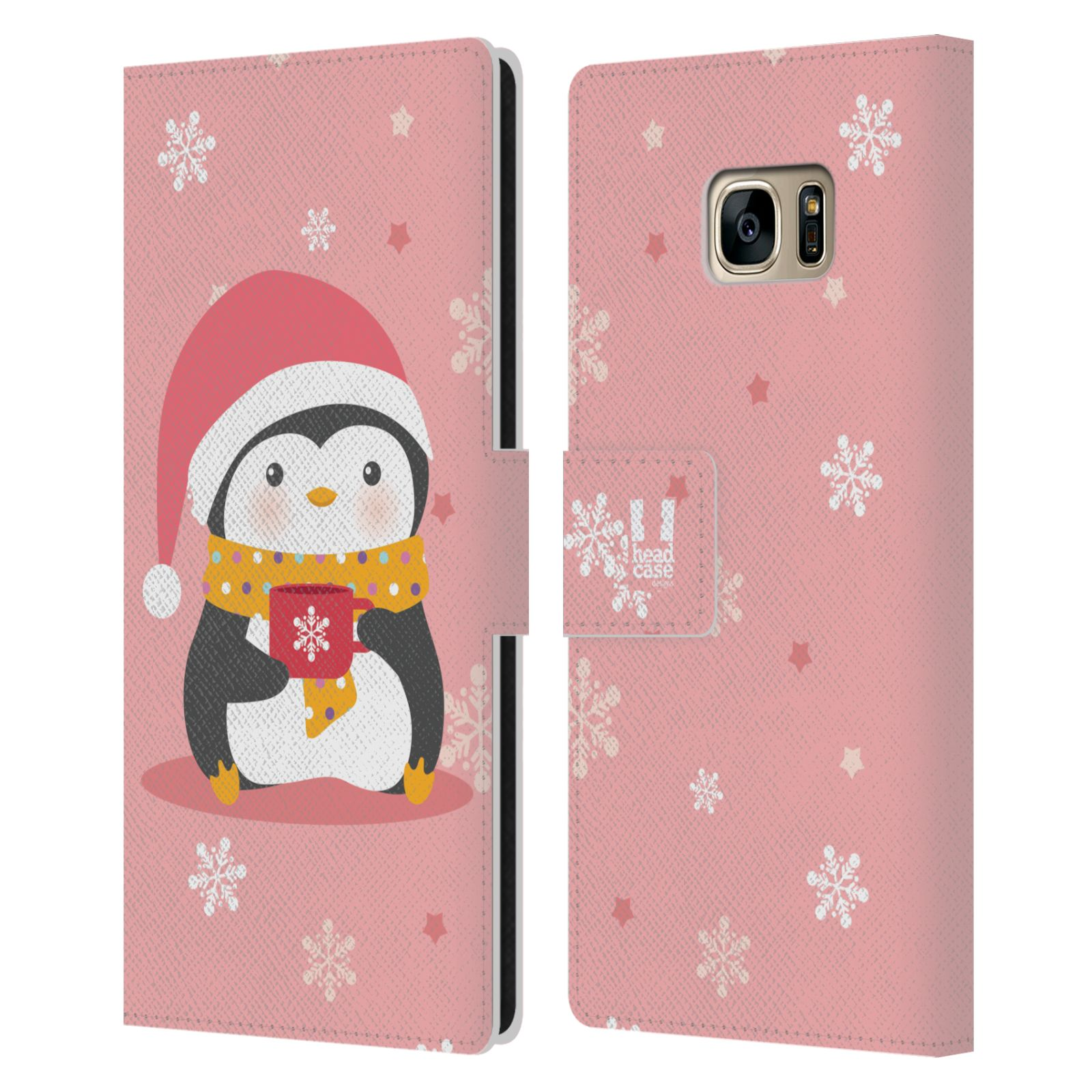 Penguin Book Phone Cover ~ Head case kawaii christmas penguins leather book for