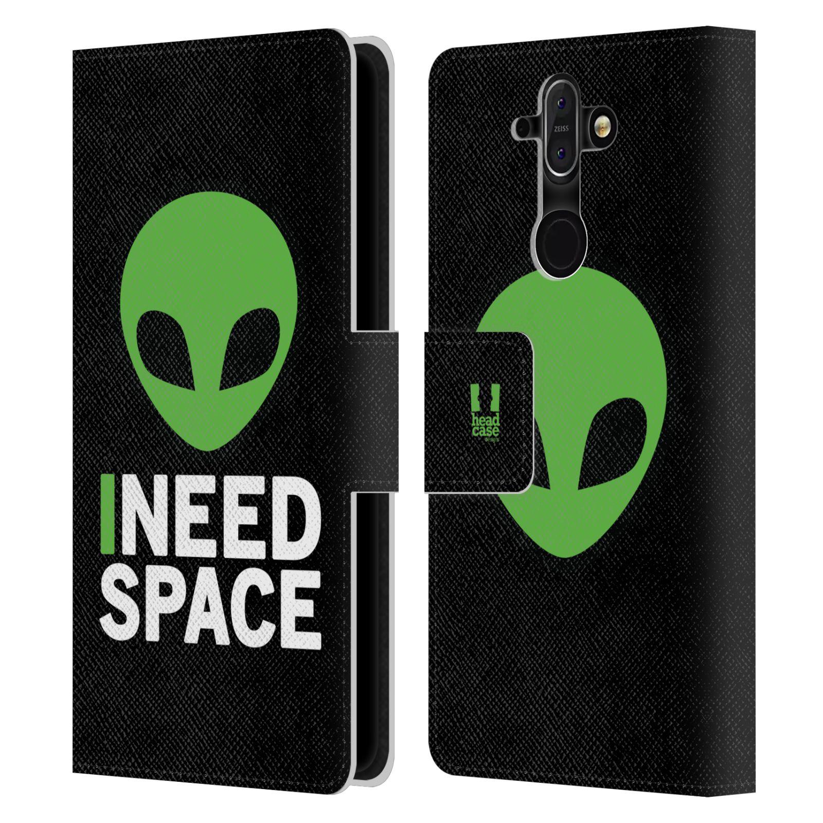 Pouzdro na mobil Nokia 8 Sirocco - Head Case - zelený mimozemšťan Ufoun
