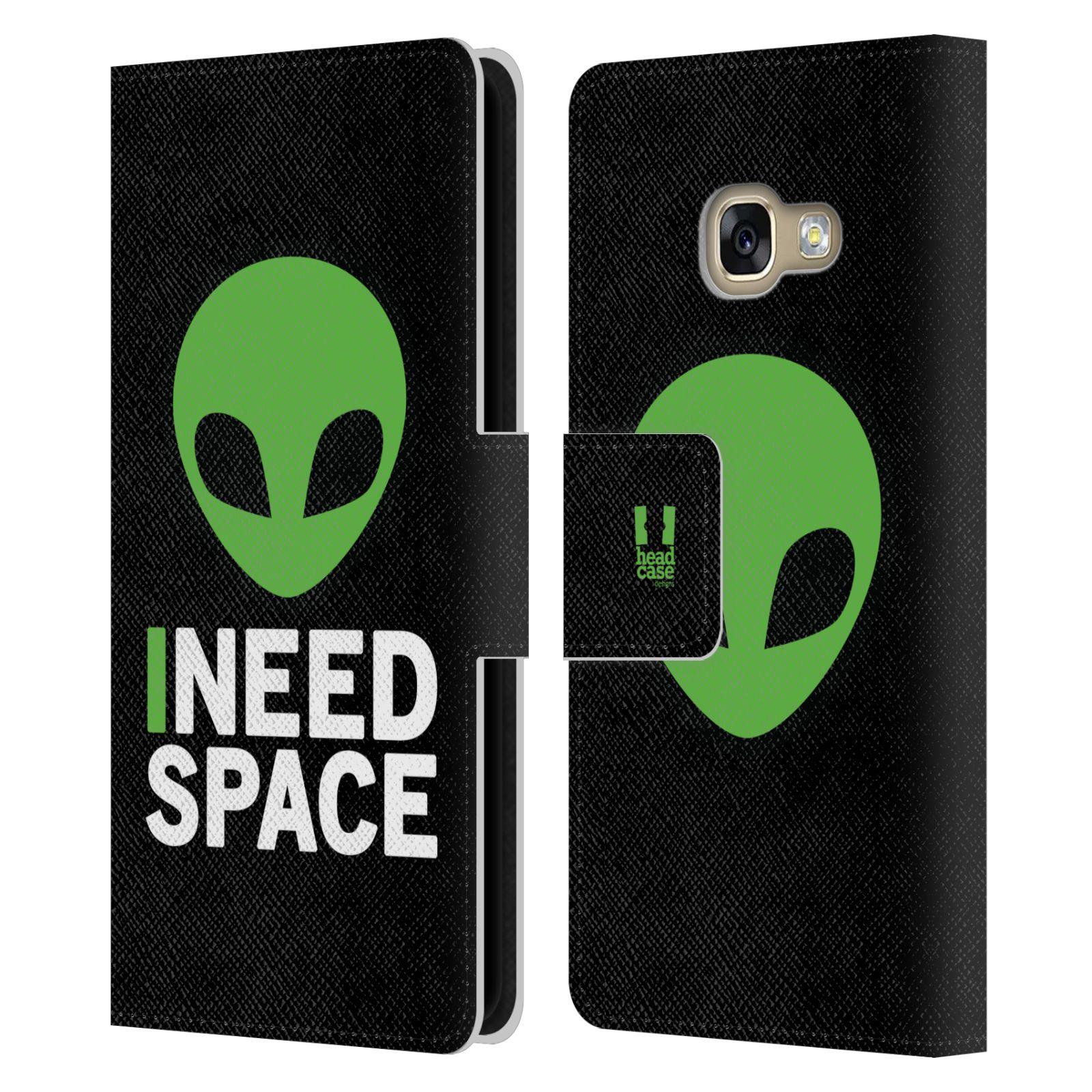 Pouzdro na mobil Samsung Galaxy A3 2017 - Head Case - zelený mimozemšťan Ufoun