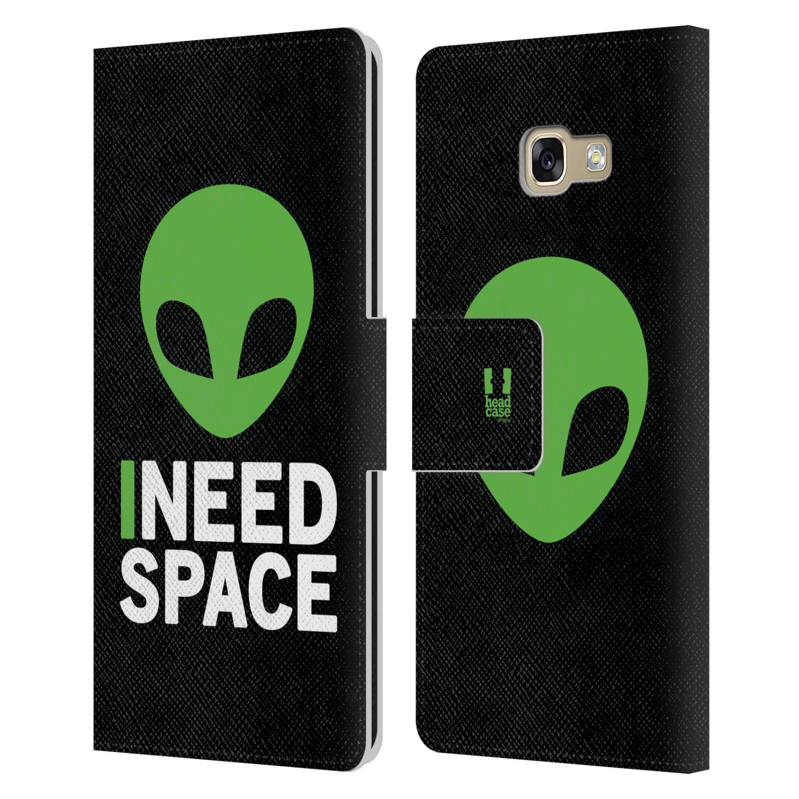 Pouzdro na mobil Samsung Galaxy A5 2017 - Head Case - zelený mimozemšťan Ufoun