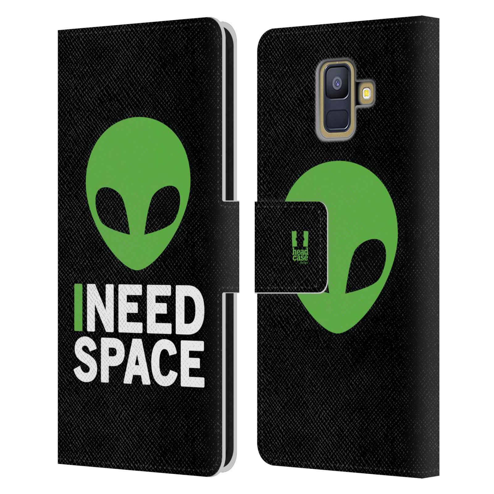 Pouzdro na mobil Samsung Galaxy A6 (A600) - Head Case - zelený mimozemšťan Ufoun