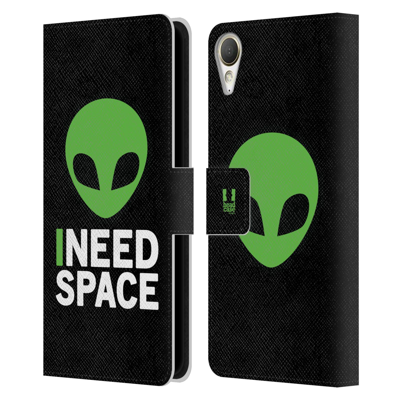 Pouzdro na mobil HTC Desire 10 Lifestyle - Head Case - zelený mimozemšťan Ufoun