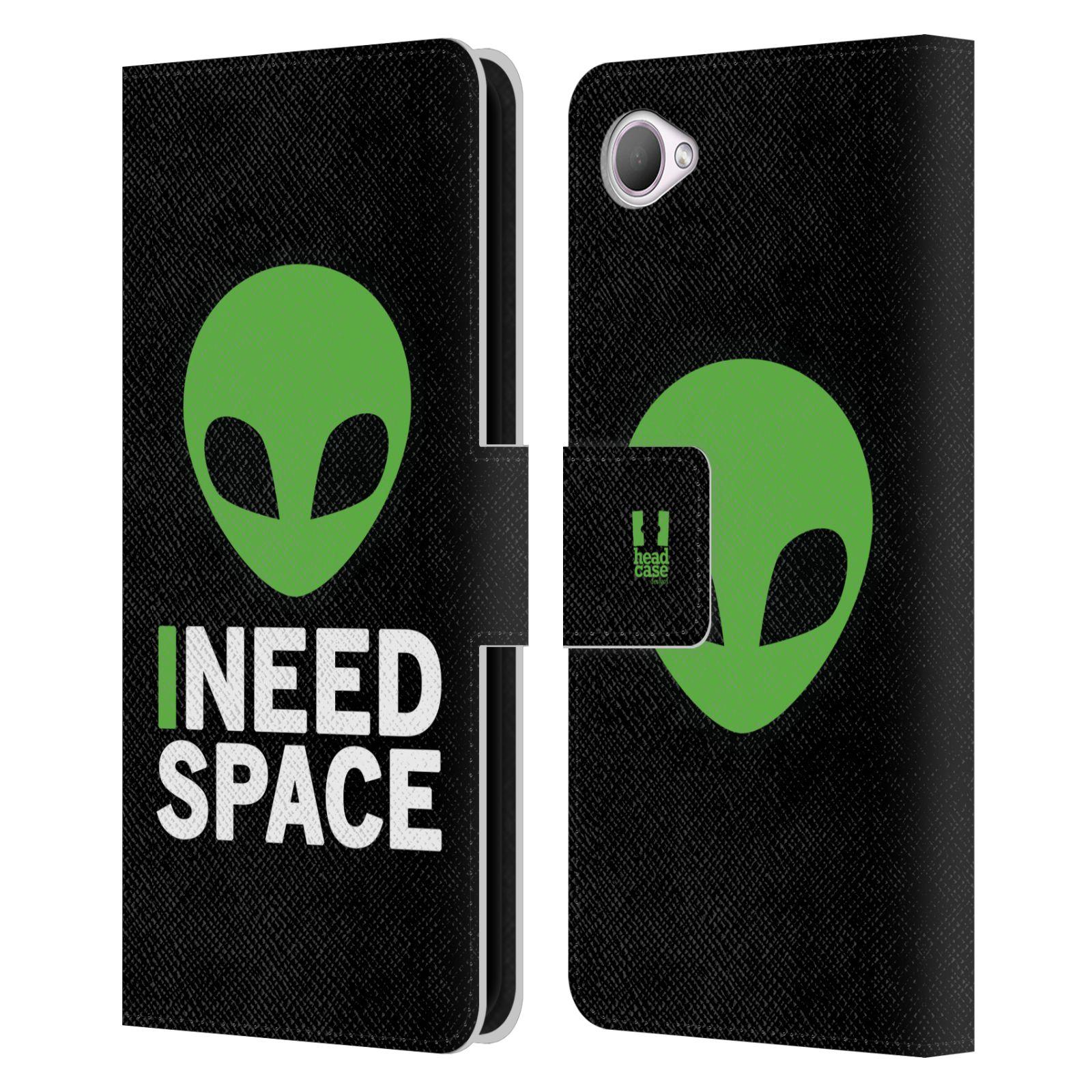 Pouzdro na mobil HTC Desire 12 - Head Case - zelený mimozemšťan Ufoun