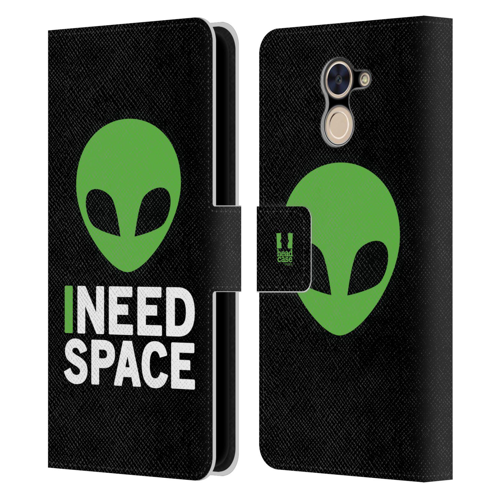 Pouzdro na mobil Huawei Y7 / Y7 Prime - Head Case - zelený mimozemšťan Ufoun