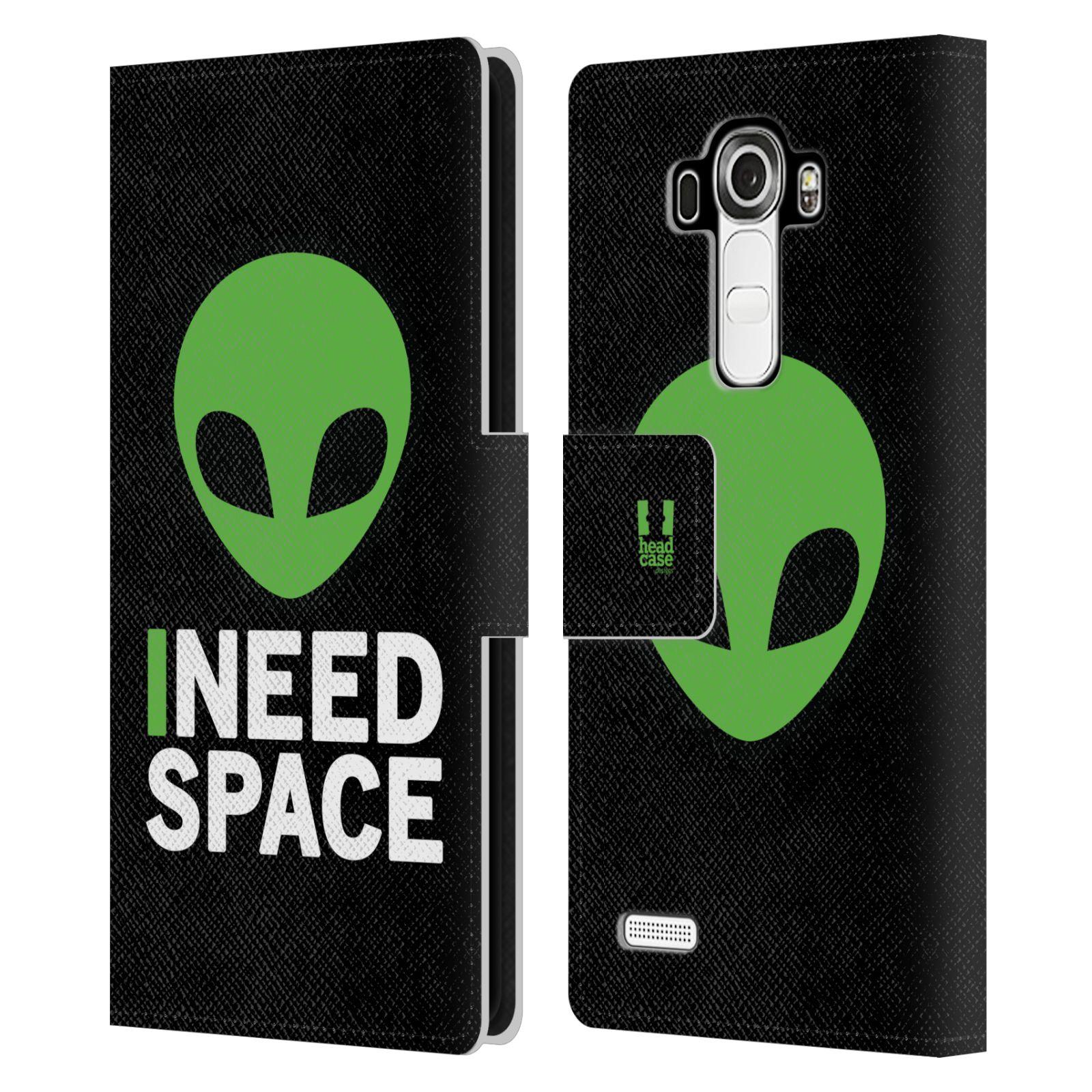 Pouzdro na mobil LG G4 - Head Case - zelený mimozemšťan Ufoun