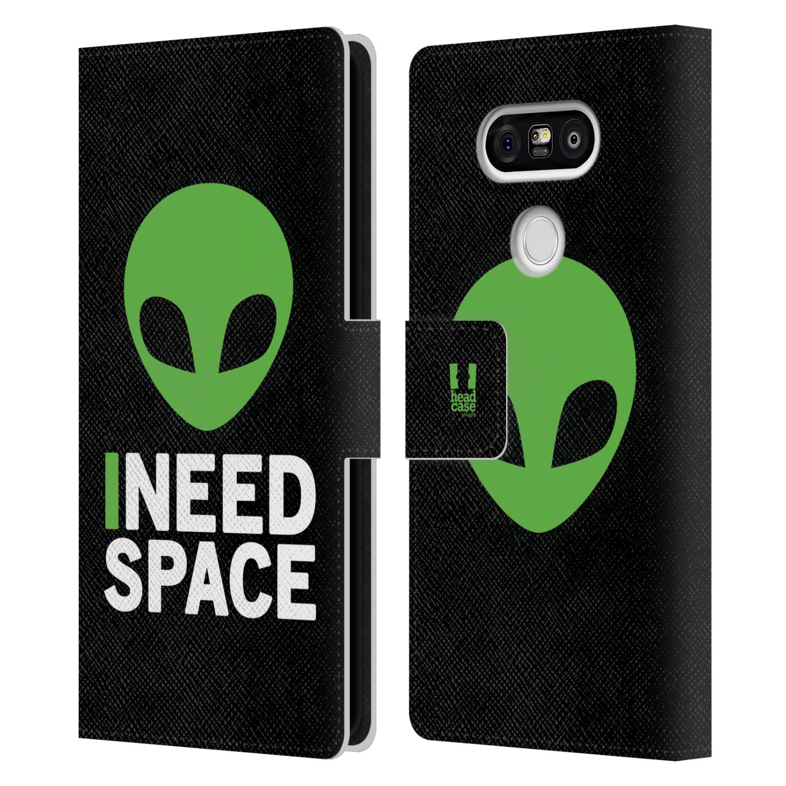 Pouzdro na mobil LG G5 - Head Case - zelený mimozemšťan Ufoun