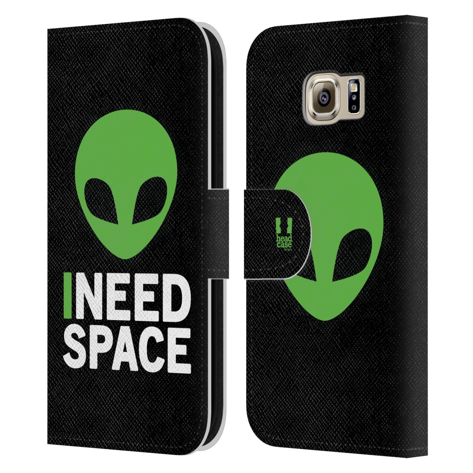 Pouzdro na mobil Samsung Galaxy S6 - Head Case - zelený mimozemšťan Ufoun
