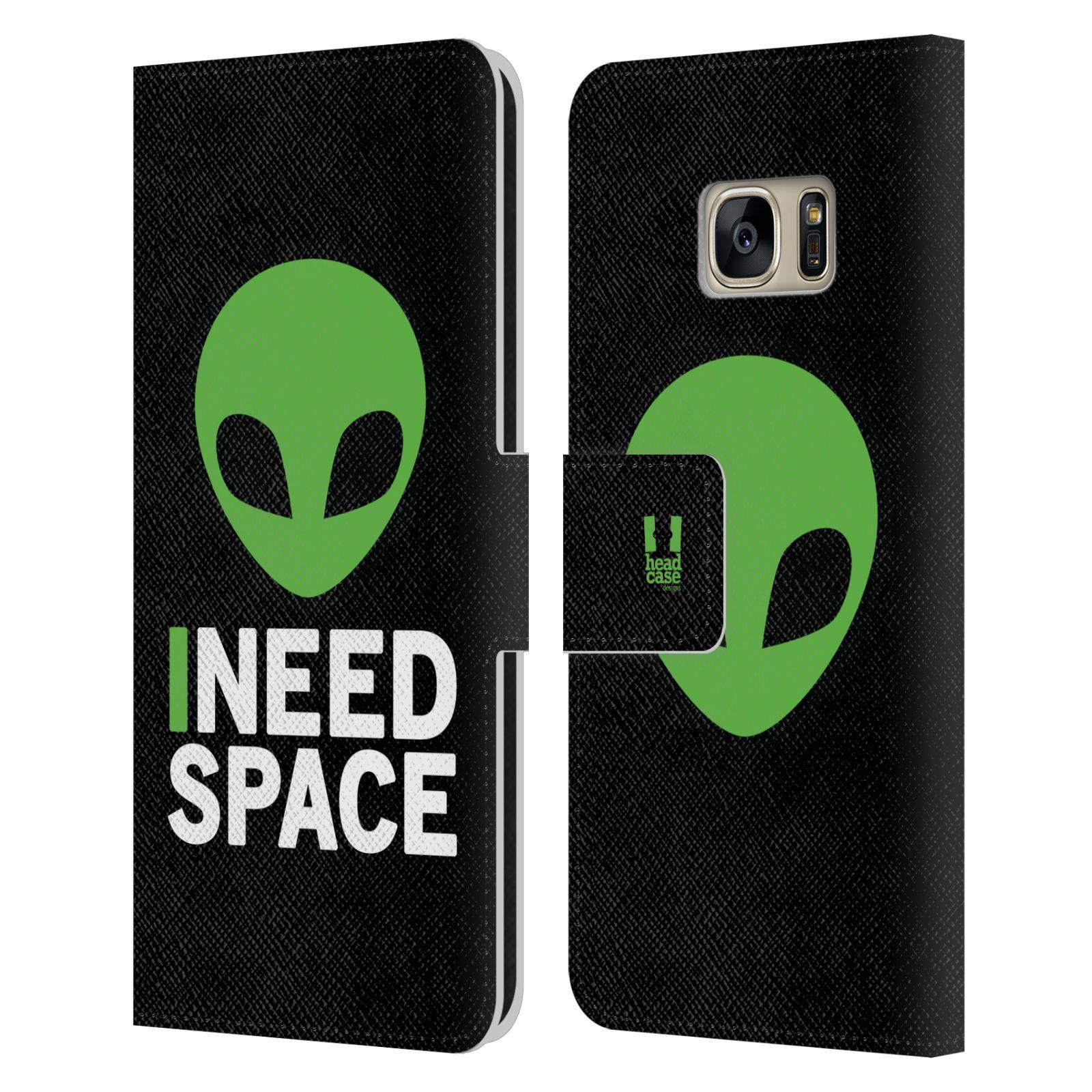 Pouzdro na mobil Samsung Galaxy S7 - Head Case - zelený mimozemšťan Ufoun