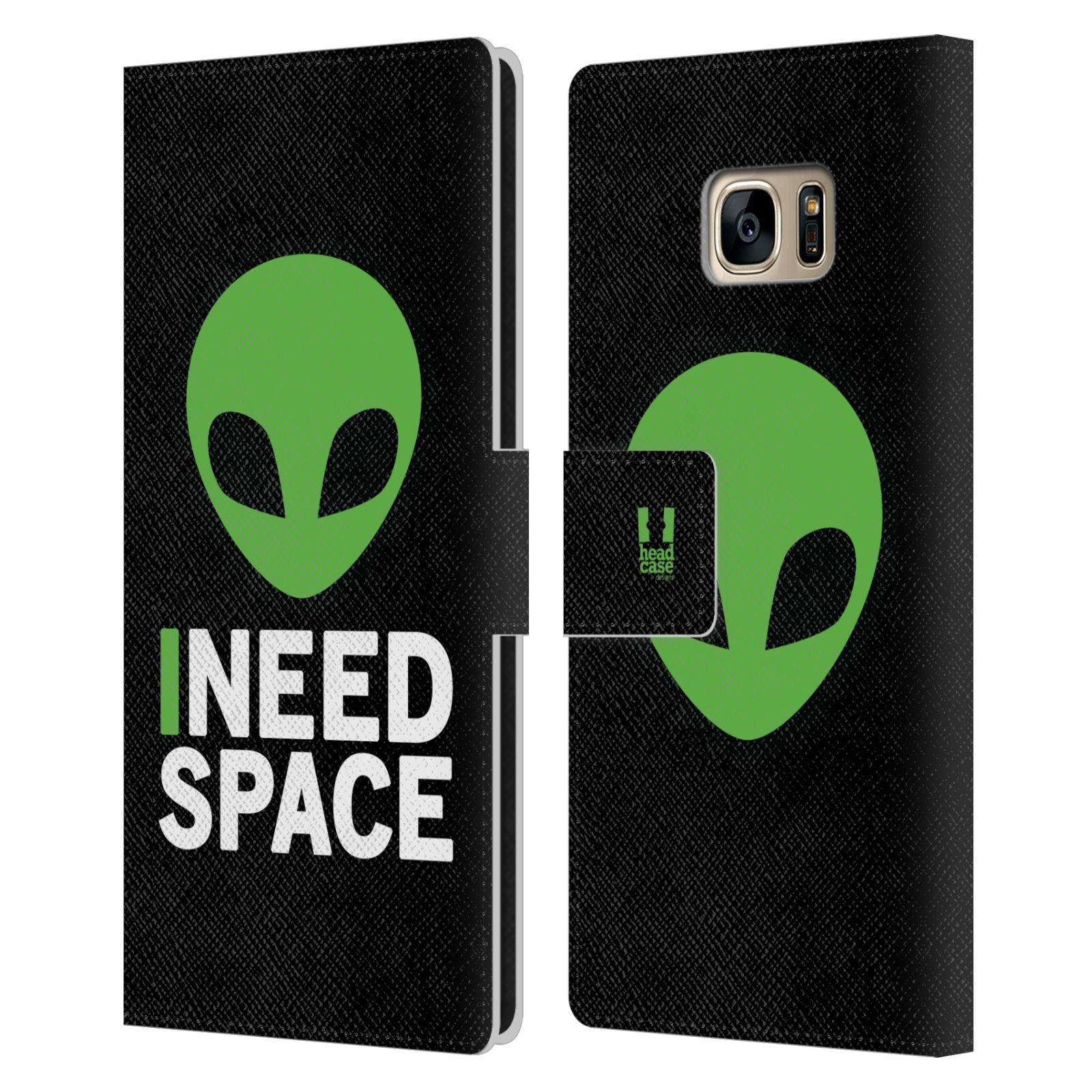 Pouzdro na mobil Samsung Galaxy S7 Edge - Head Case - zelený mimozemšťan Ufoun
