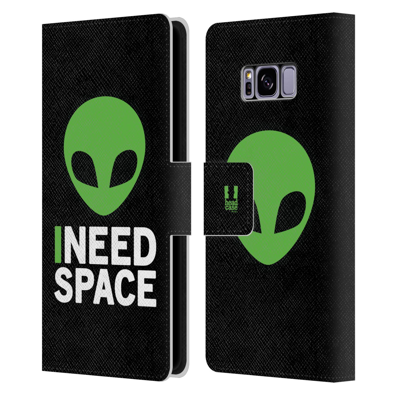Pouzdro na mobil Samsung Galaxy S8 - Head Case - zelený mimozemšťan Ufoun