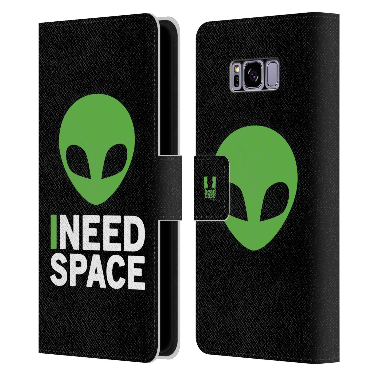 Pouzdro na mobil Samsung Galaxy S8 Plus - Head Case - zelený mimozemšťan Ufoun