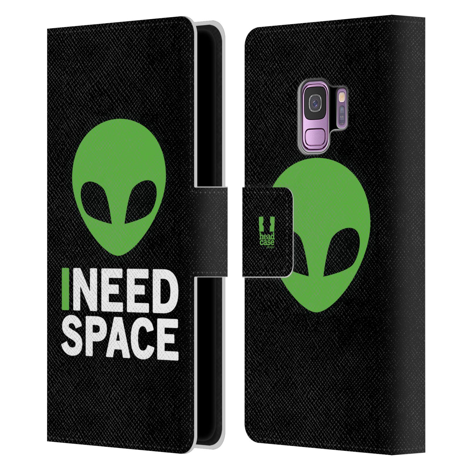 Pouzdro na mobil Samsung Galaxy S9 - Head Case - zelený mimozemšťan Ufoun