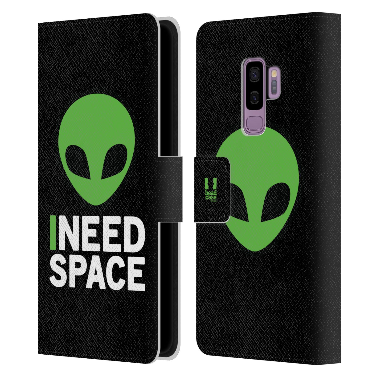 Pouzdro na mobil Samsung Galaxy S9 Plus - Head Case - zelený mimozemšťan Ufoun