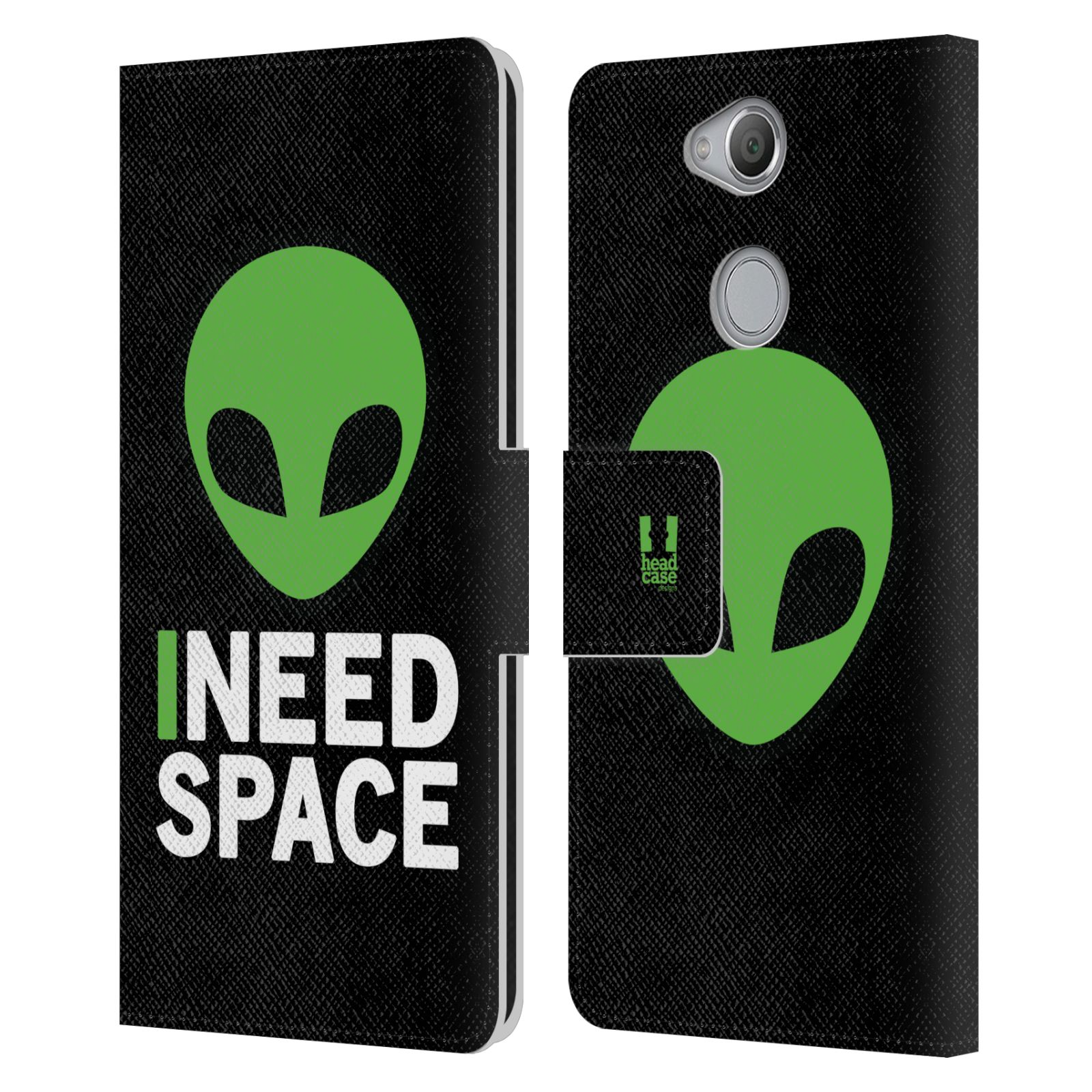 Pouzdro na mobil Sony Xperia XA2 - Head Case - zelený mimozemšťan Ufoun