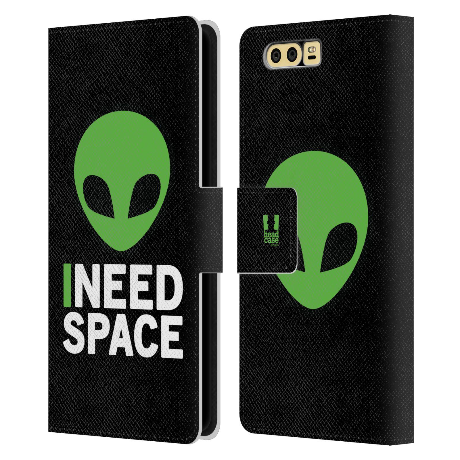 Pouzdro na mobil Honor 9 - Head Case - zelený mimozemšťan Ufoun