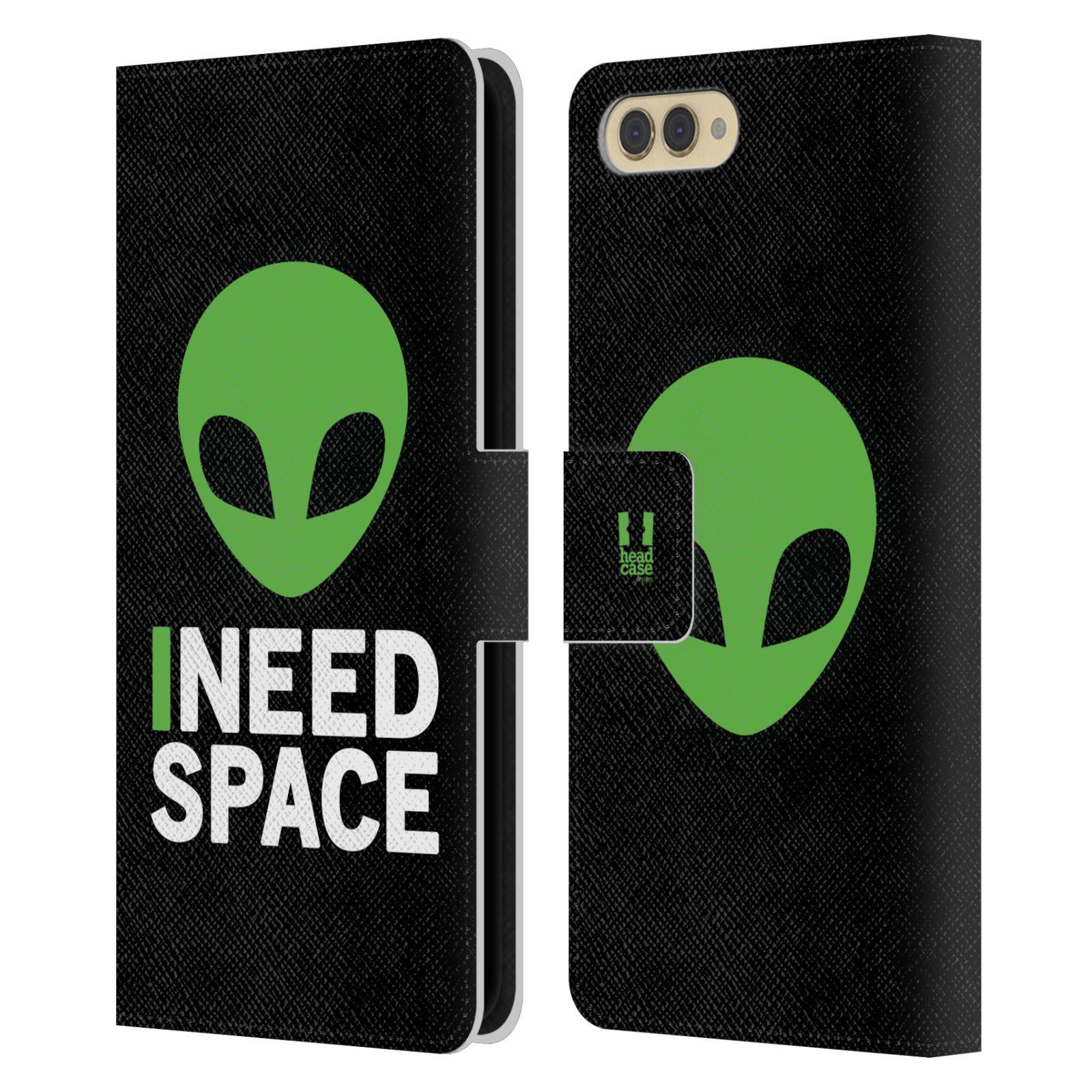 Pouzdro na mobil Honor  View 10 / V10 - Head Case - zelený mimozemšťan Ufoun