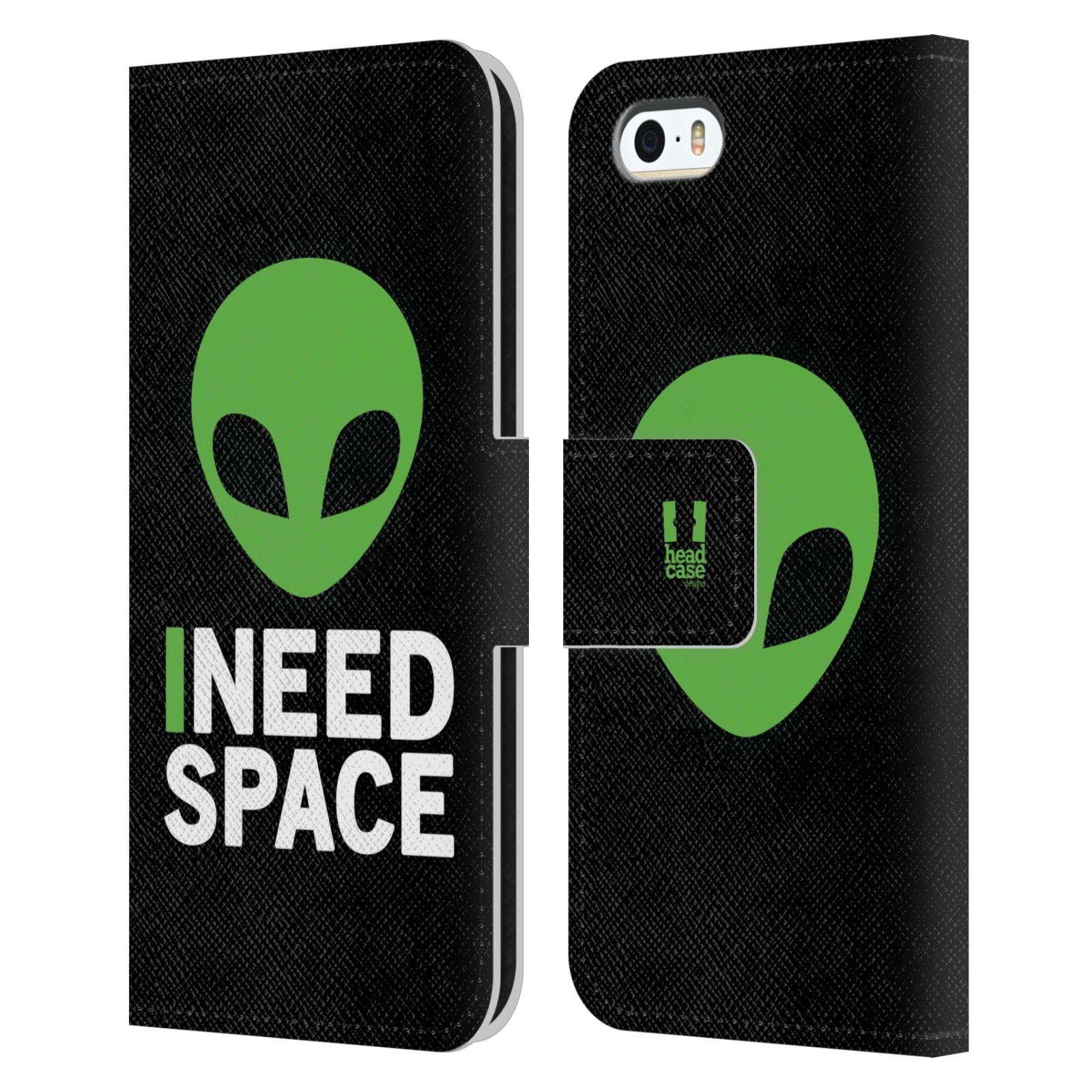 Pouzdro na mobil Apple Iphone 5 / 5S - Head Case - zelený mimozemšťan Ufoun
