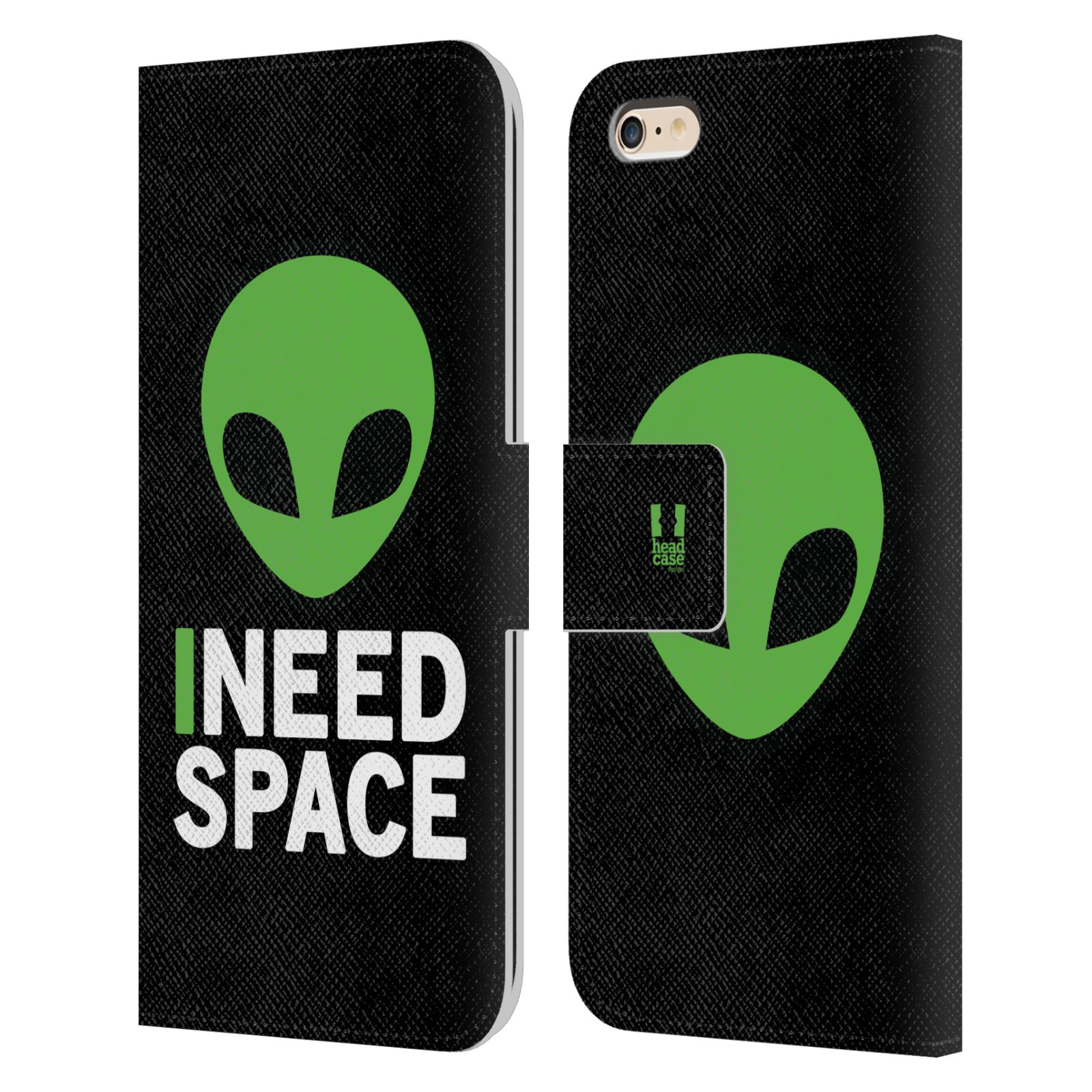 Pouzdro na mobil Apple Iphone 6 PLUS / 6S PLUS - Head Case - zelený mimozemšťan Ufoun
