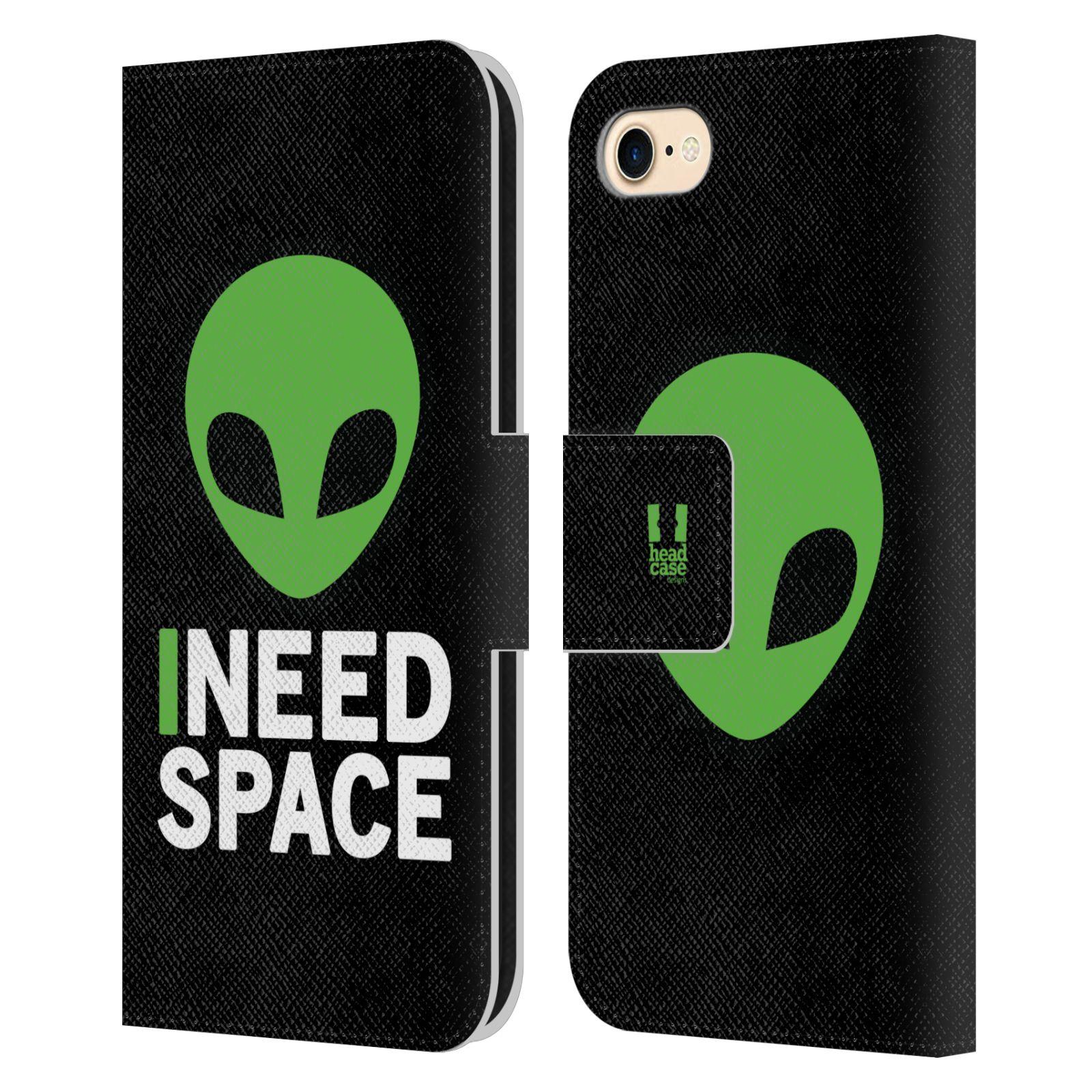 Pouzdro na mobil Apple Iphone 7 / 8 - Head Case - zelený mimozemšťan Ufoun