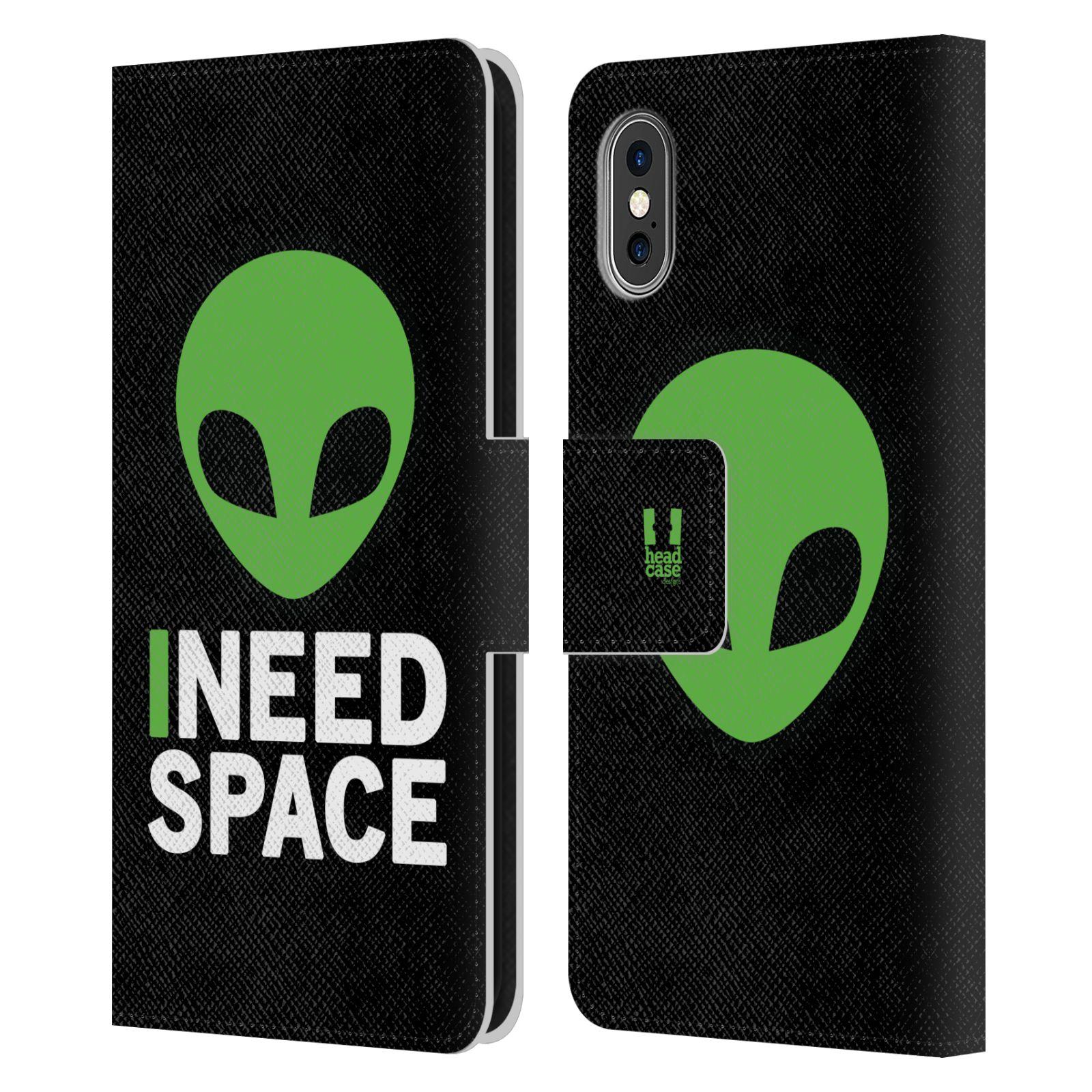 Pouzdro na mobil Apple Iphone X / XS - Head Case - zelený mimozemšťan Ufoun