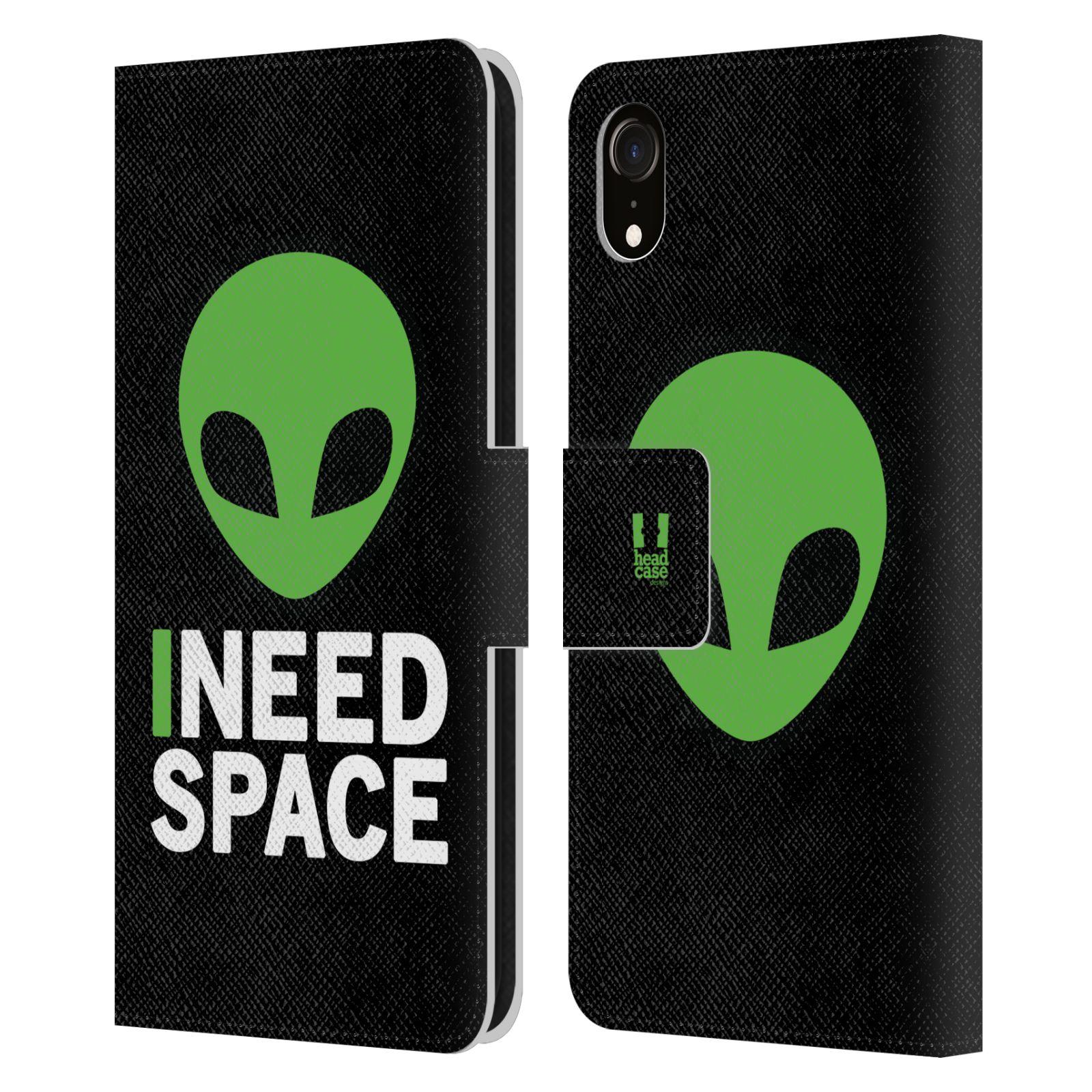 Pouzdro na mobil Apple Iphone XR - Head Case - zelený mimozemšťan Ufoun