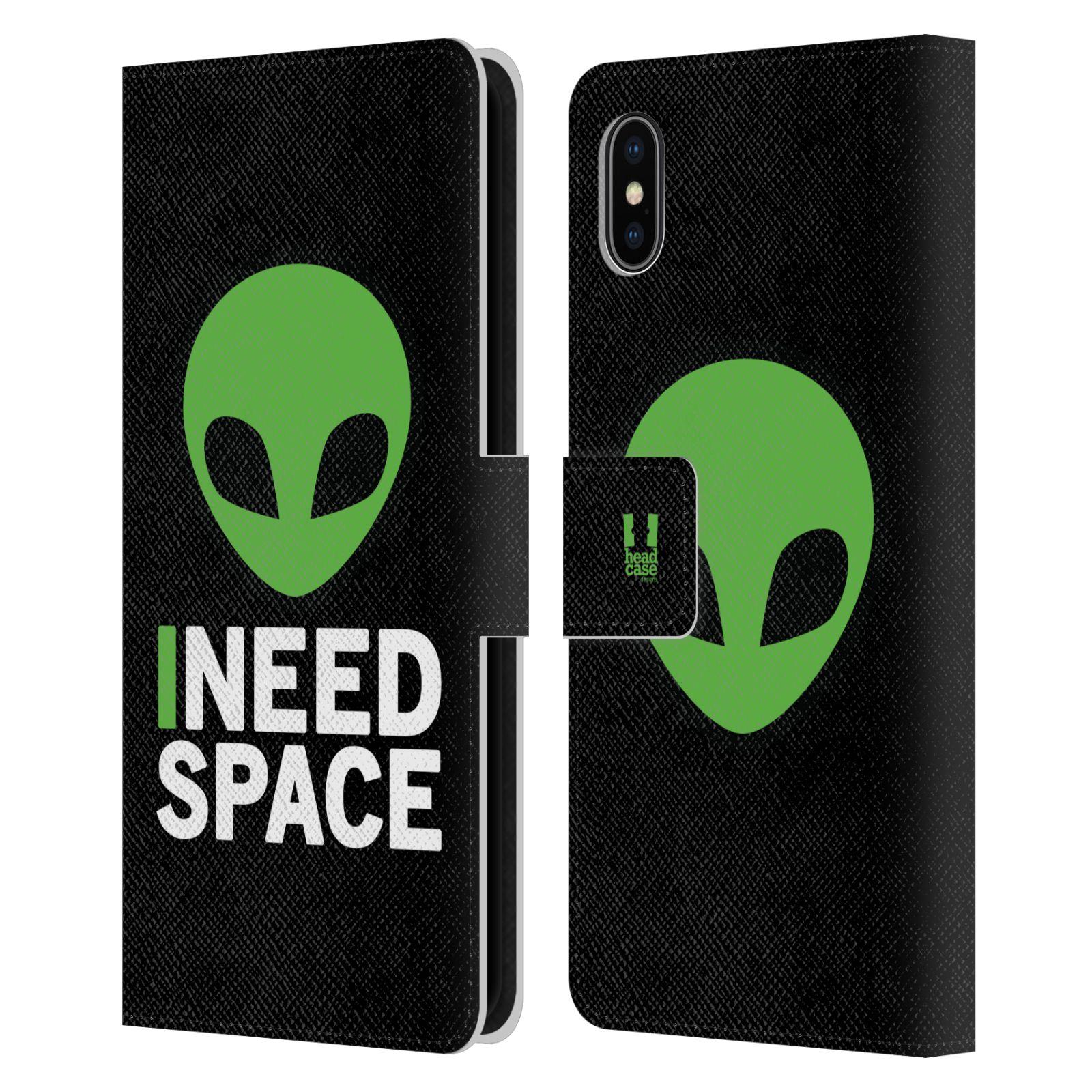 Pouzdro na mobil Apple Iphone XS Max - Head Case - zelený mimozemšťan Ufoun