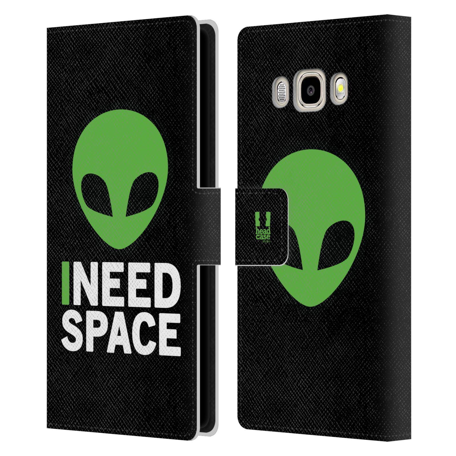 Pouzdro na mobil Samsung Galaxy J5 2016 - Head Case - zelený mimozemšťan Ufoun