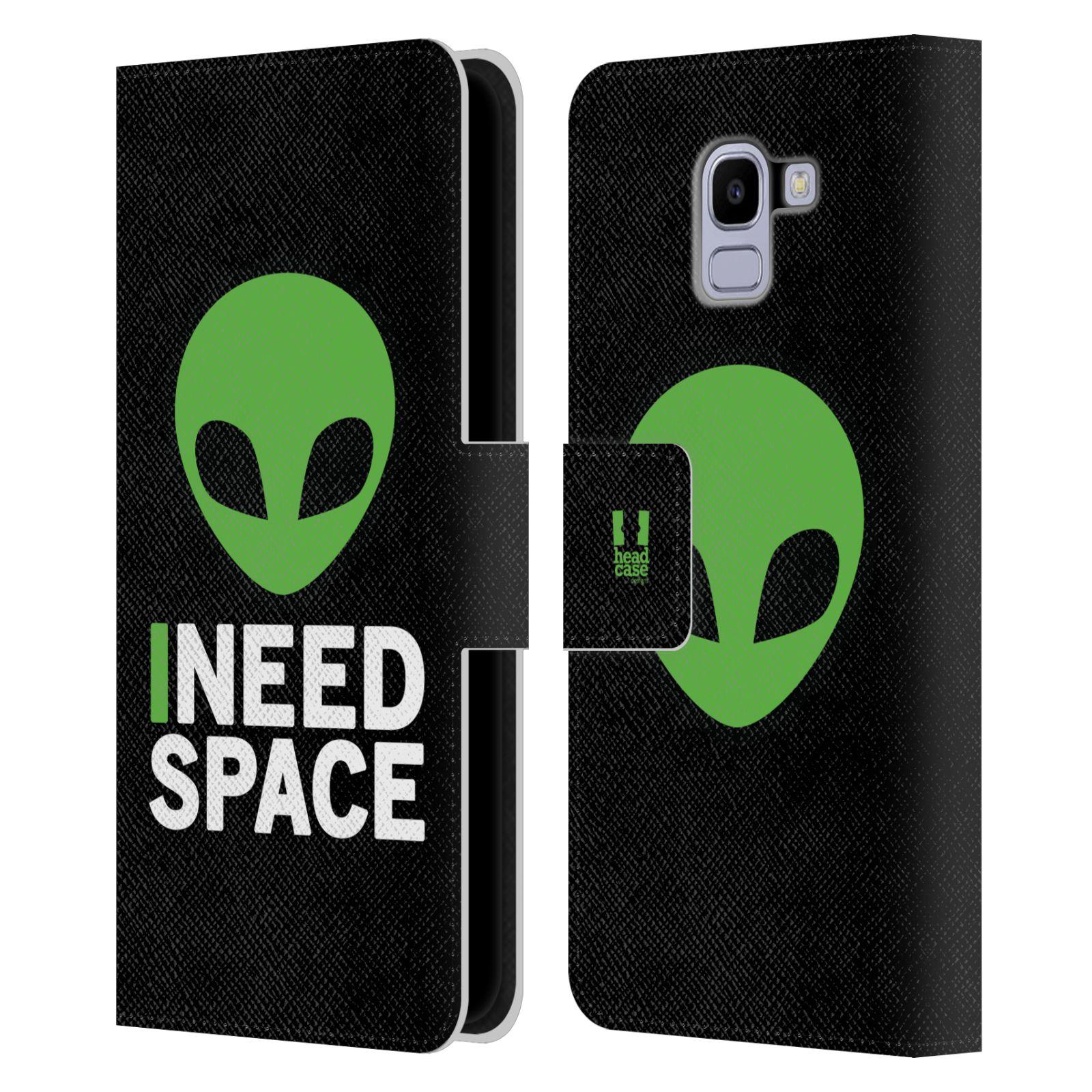 Pouzdro na mobil Samsung Galaxy J6 - Head Case - zelený mimozemšťan Ufoun