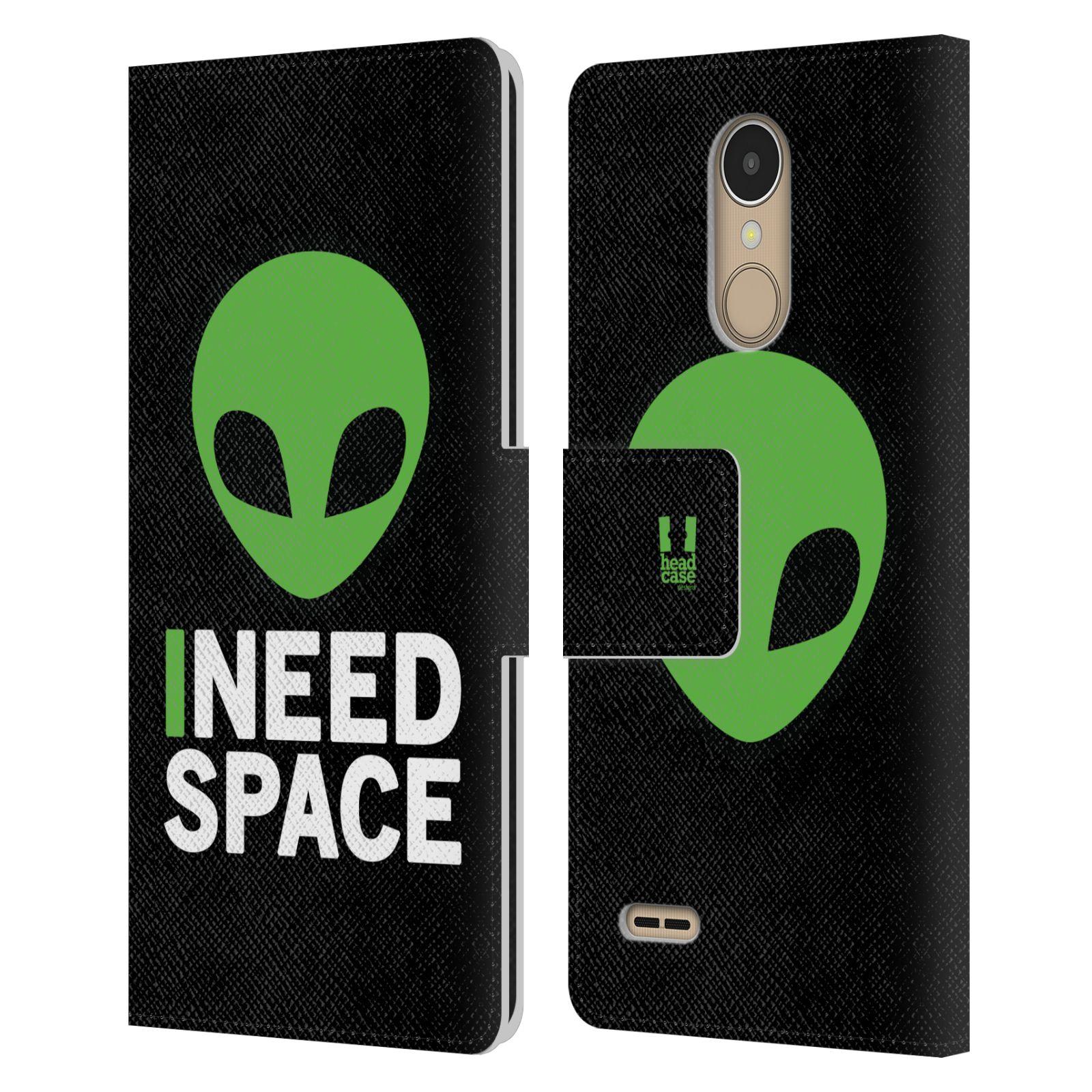Pouzdro na mobil LG K10 (2017) - Head Case - zelený mimozemšťan Ufoun