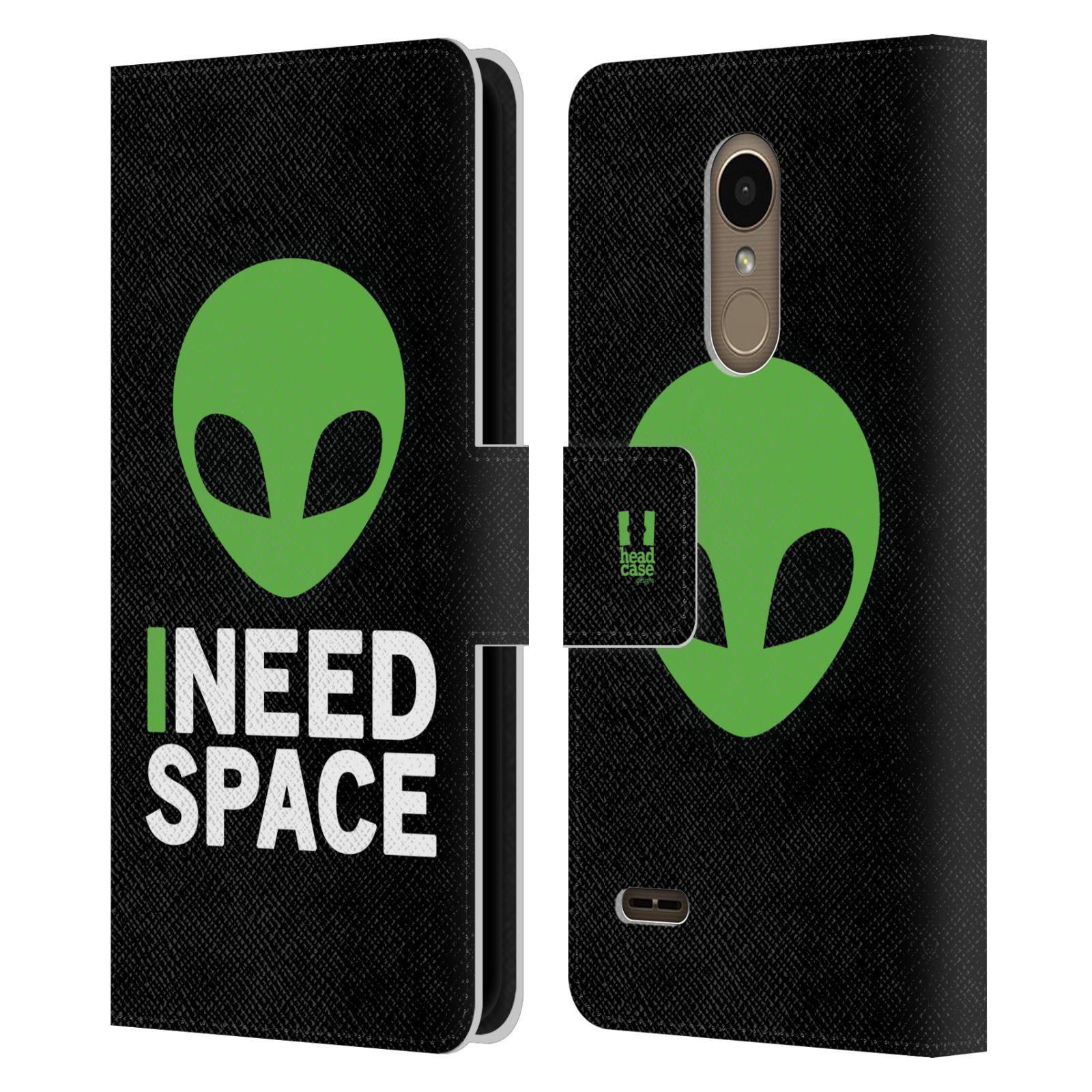 Pouzdro na mobil LG K11 - Head Case - zelený mimozemšťan Ufoun