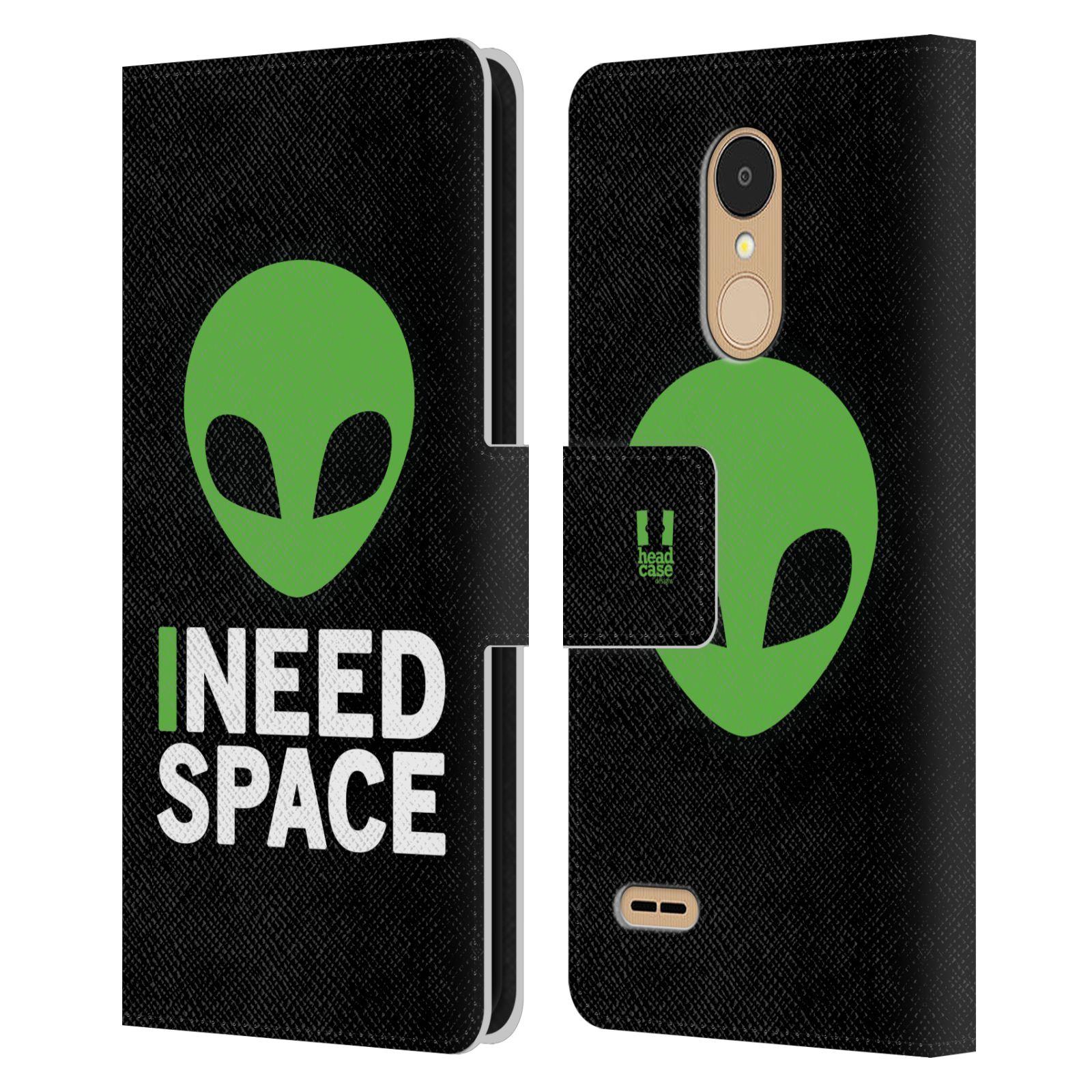Pouzdro na mobil LG K9 2018 - Head Case - zelený mimozemšťan Ufoun