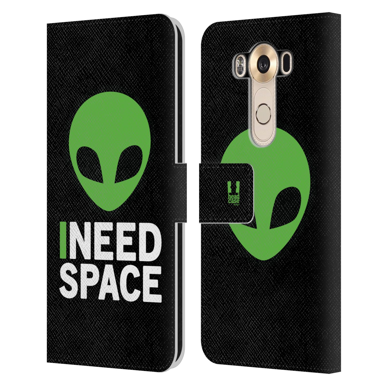 Pouzdro na mobil LG V10 - Head Case - zelený mimozemšťan Ufoun