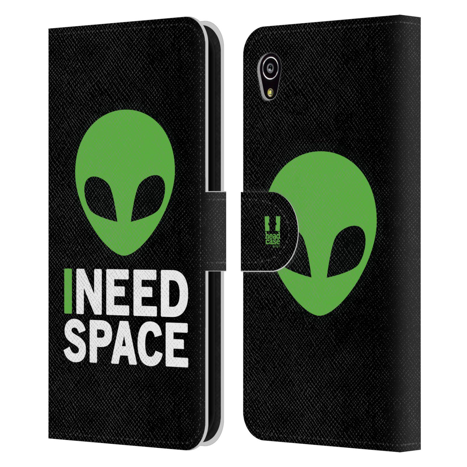 Pouzdro na mobil Sony Xperia M4 Aqua - Head Case - zelený mimozemšťan Ufoun