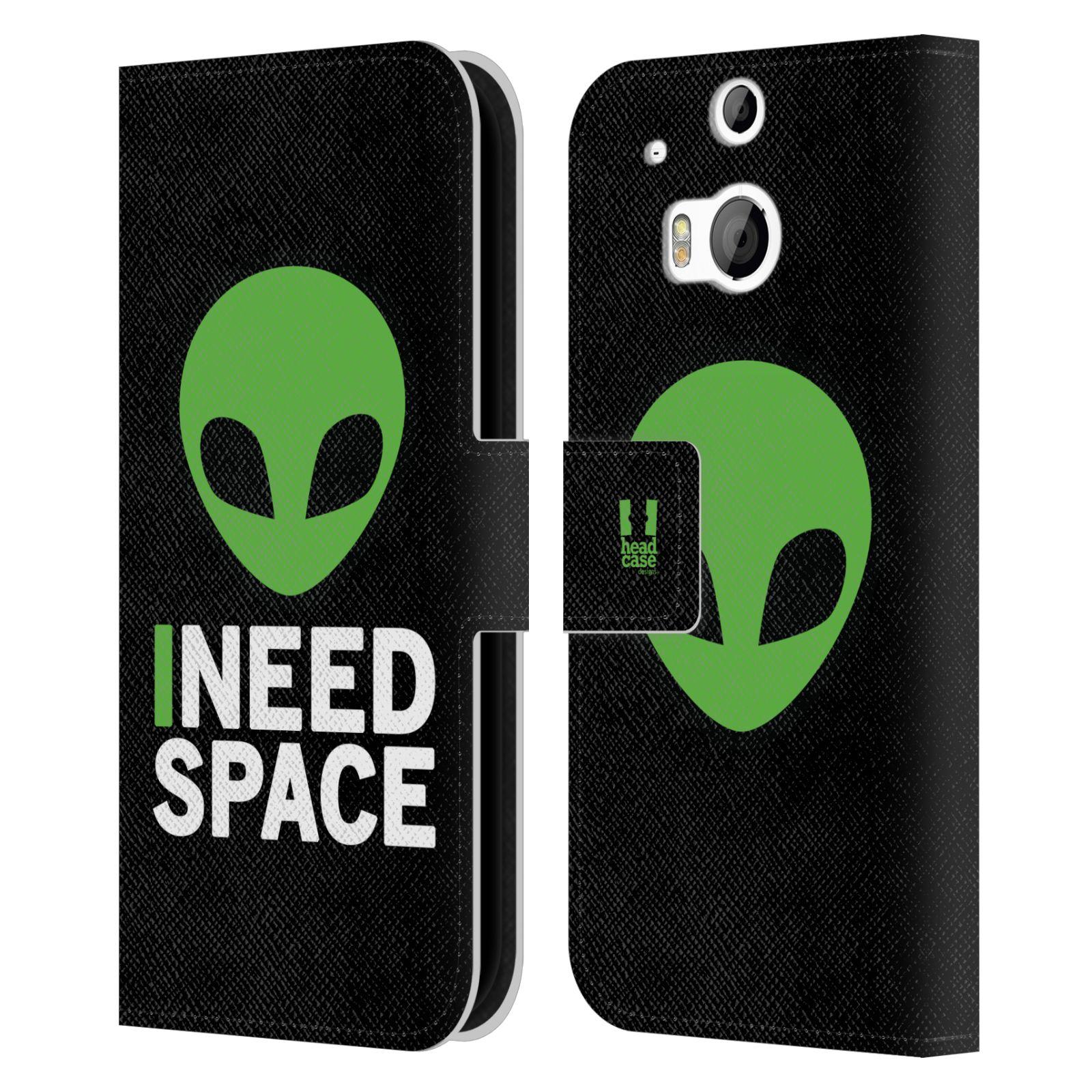 Pouzdro na mobil HTC One M8, M8s - Head Case - zelený mimozemšťan Ufoun