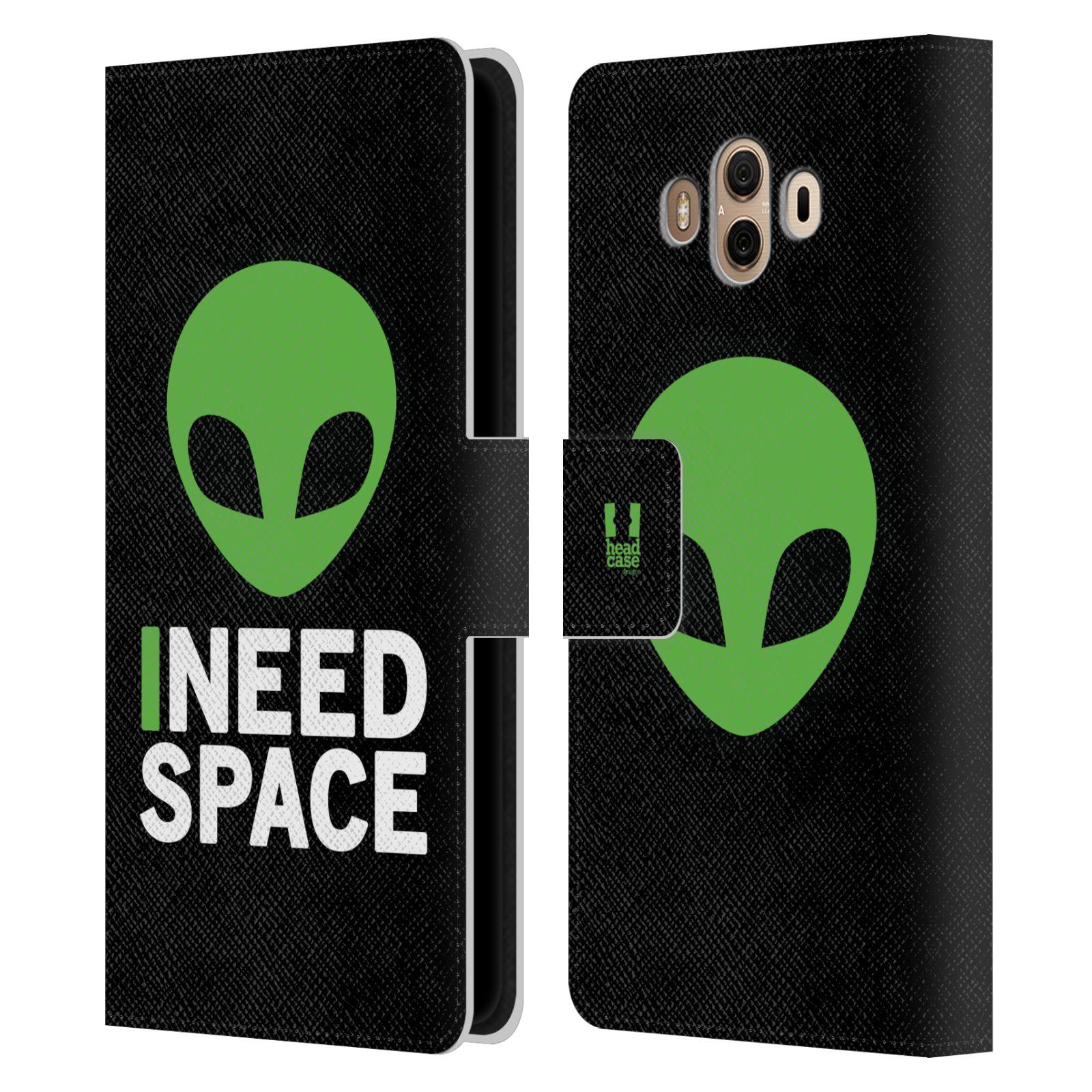 Pouzdro na mobil Huawei Mate 10 - Head Case - zelený mimozemšťan Ufoun