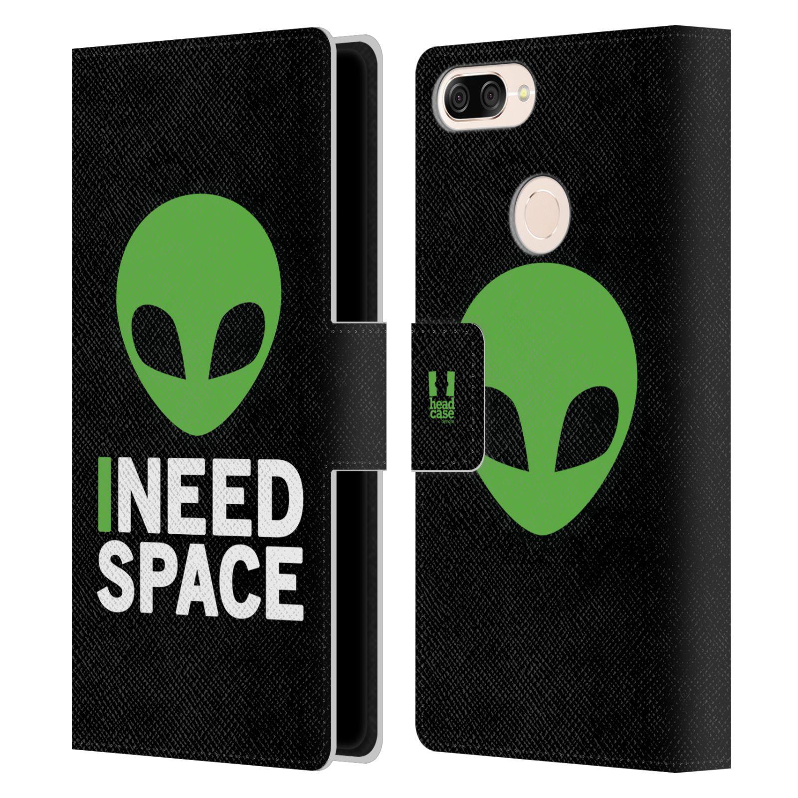 Pouzdro na mobil Asus Zenfone Max Plus (M1) ZB570TL - Head Case - zelený mimozemšťan Ufoun