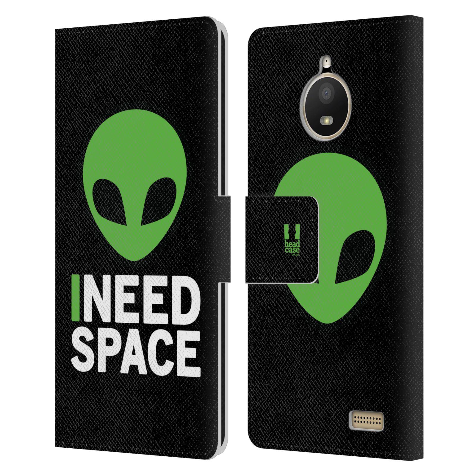 Pouzdro na mobil Lenovo Moto E4 - Head Case - zelený mimozemšťan Ufoun