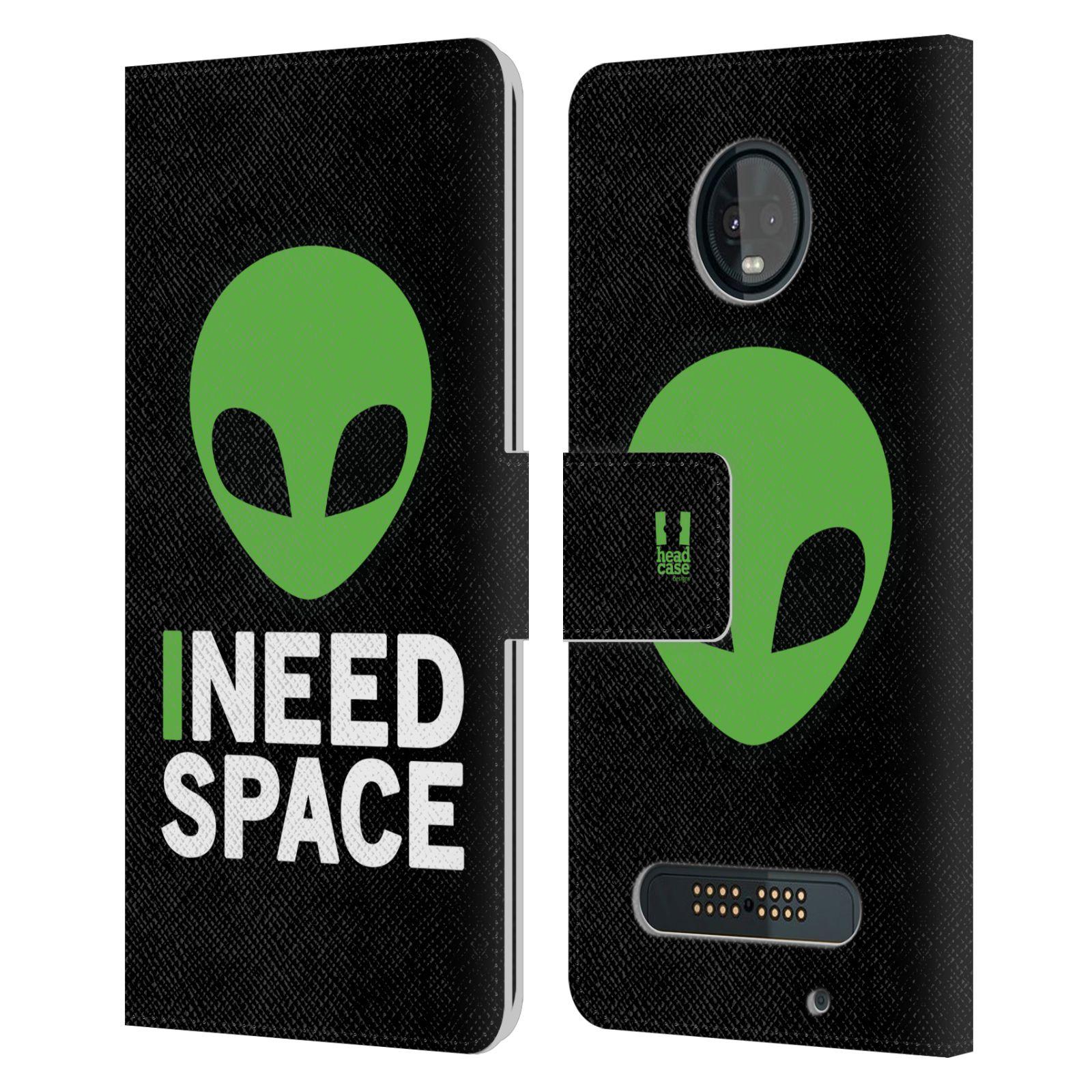 Pouzdro na mobil Motorola Moto Z3 Play - Head Case - zelený mimozemšťan Ufoun