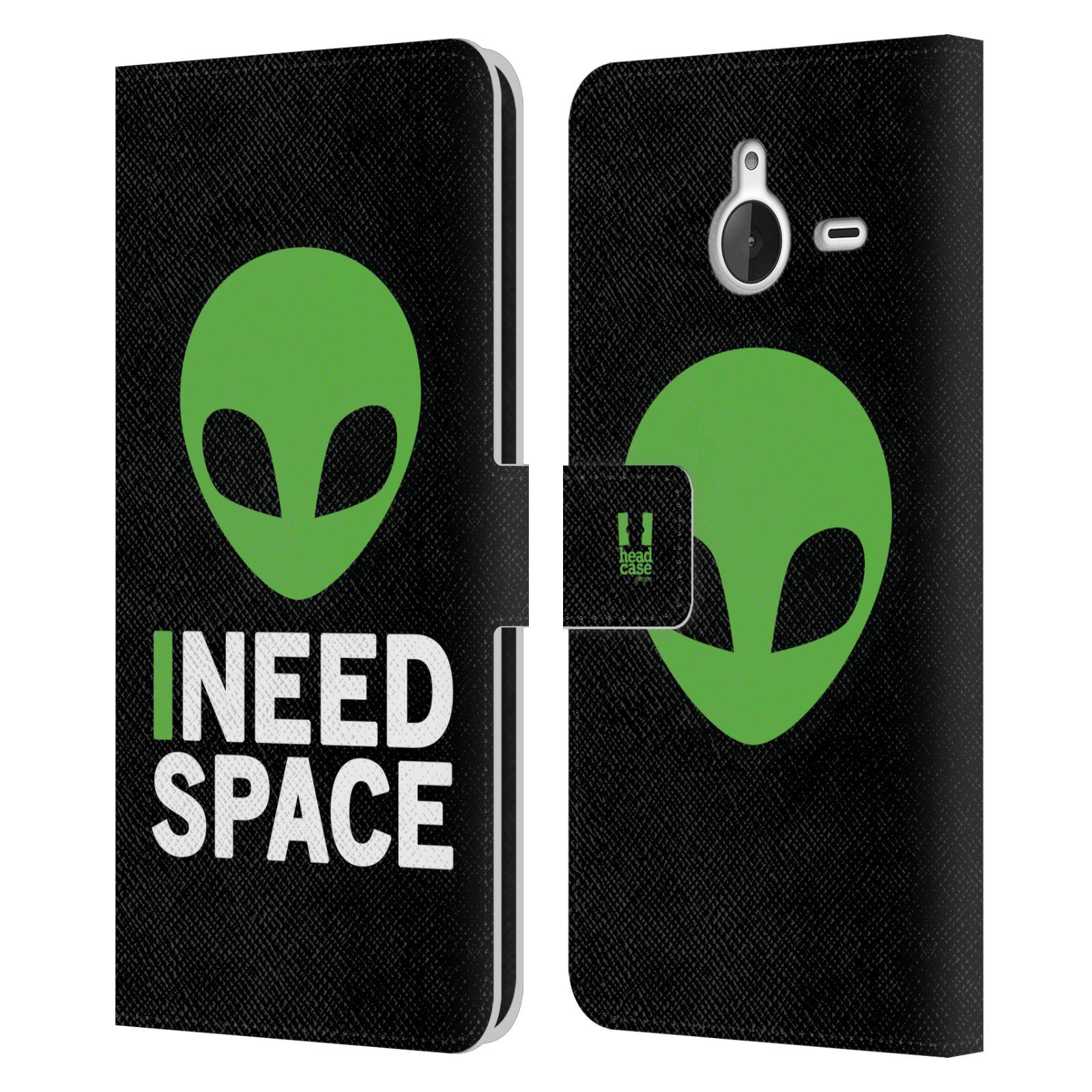 Pouzdro na mobil Nokia Lumia 640 XL - Head Case - zelený mimozemšťan Ufoun