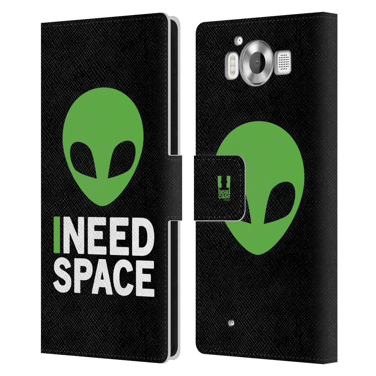 Pouzdro na mobil Nokia Lumia 950 - Head Case - zelený mimozemšťan Ufoun