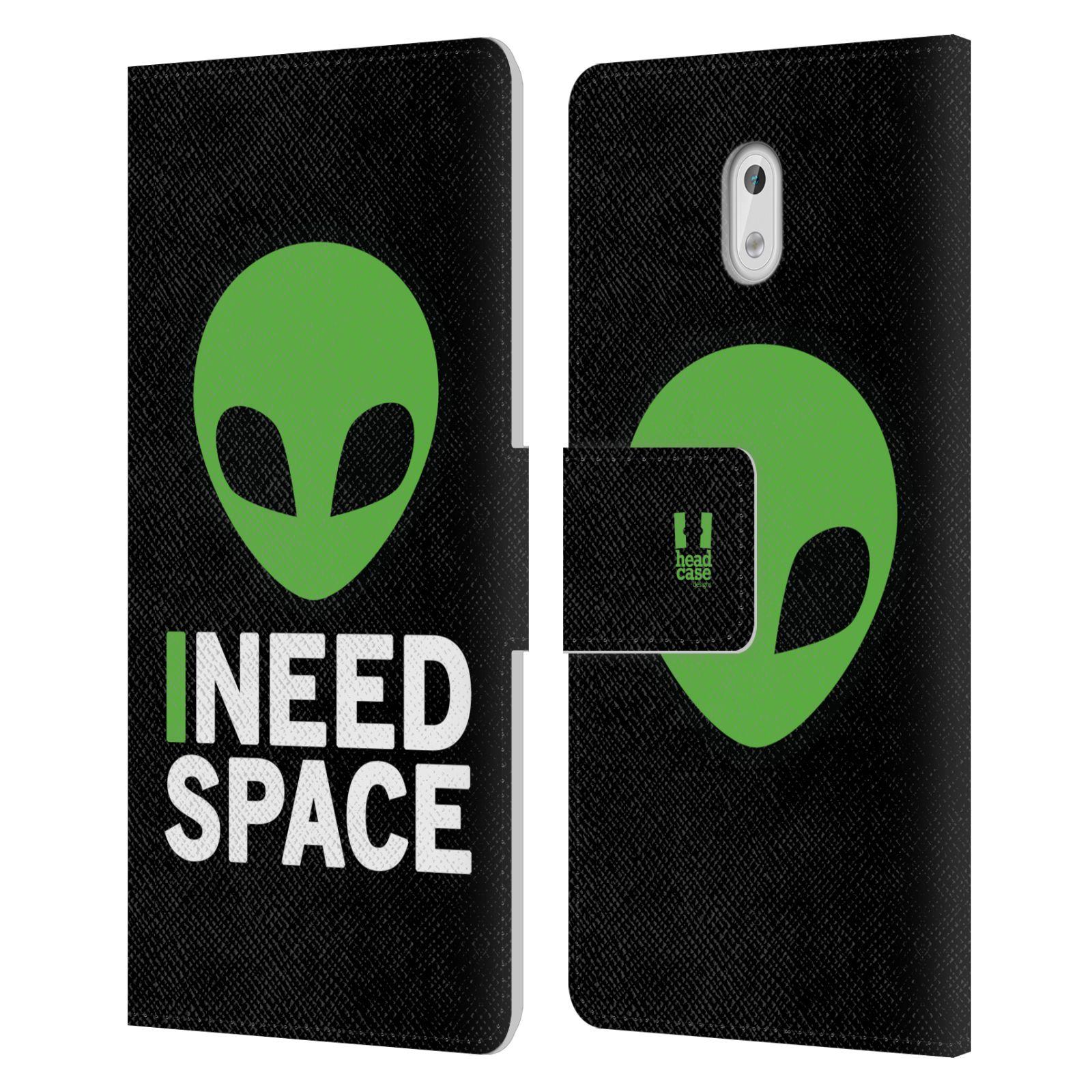 Pouzdro na mobil Nokia 3 - Head Case - zelený mimozemšťan Ufoun