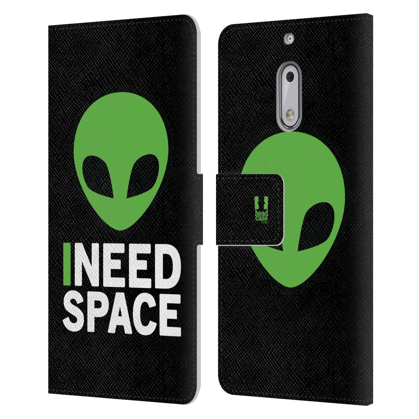 Pouzdro na mobil Nokia 6 - Head Case - zelený mimozemšťan Ufoun