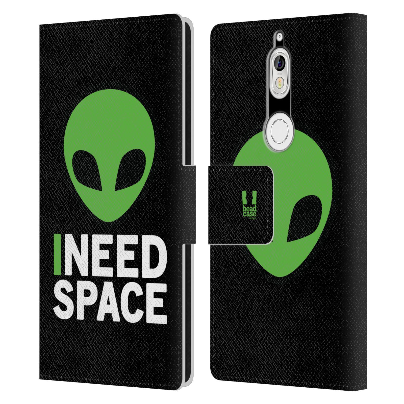 Pouzdro na mobil Nokia 7 - Head Case - zelený mimozemšťan Ufoun